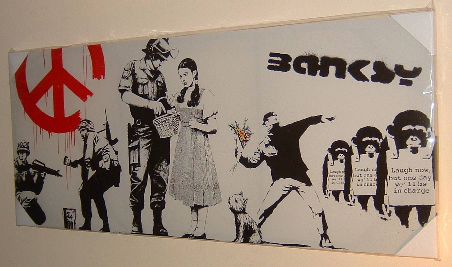 Large Stunning Banksy Collage Cnd Soldiers Graffiti Canvas Wall In 2017 Banksy Wall Art Canvas (View 17 of 20)
