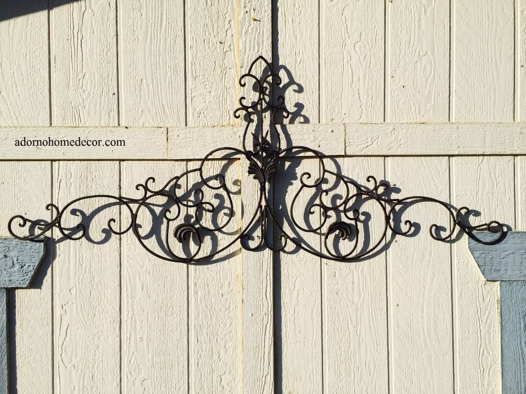 Large Tuscan Wrought Iron Metal Wall Decor Rustic Antique Garden For Most Recent Tuscan Wrought Iron Wall Art (View 4 of 20)