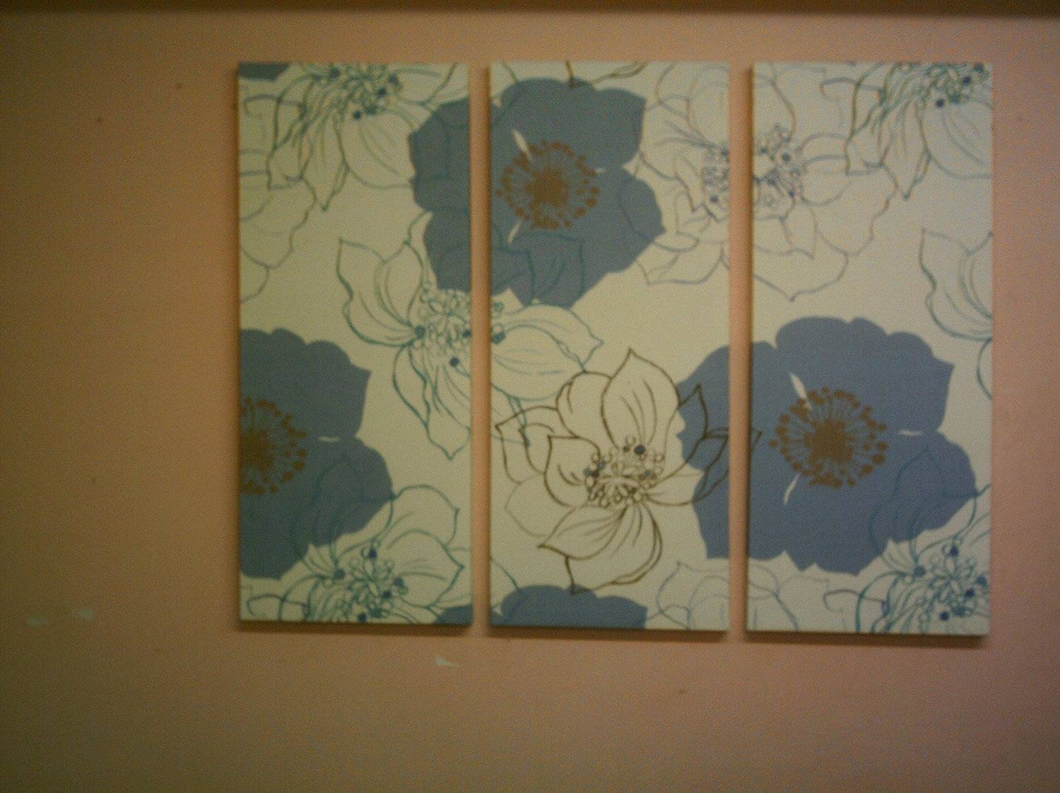 Large Wall To Decorate?!? With 2017 Blue And Cream Wall Art (View 9 of 20)