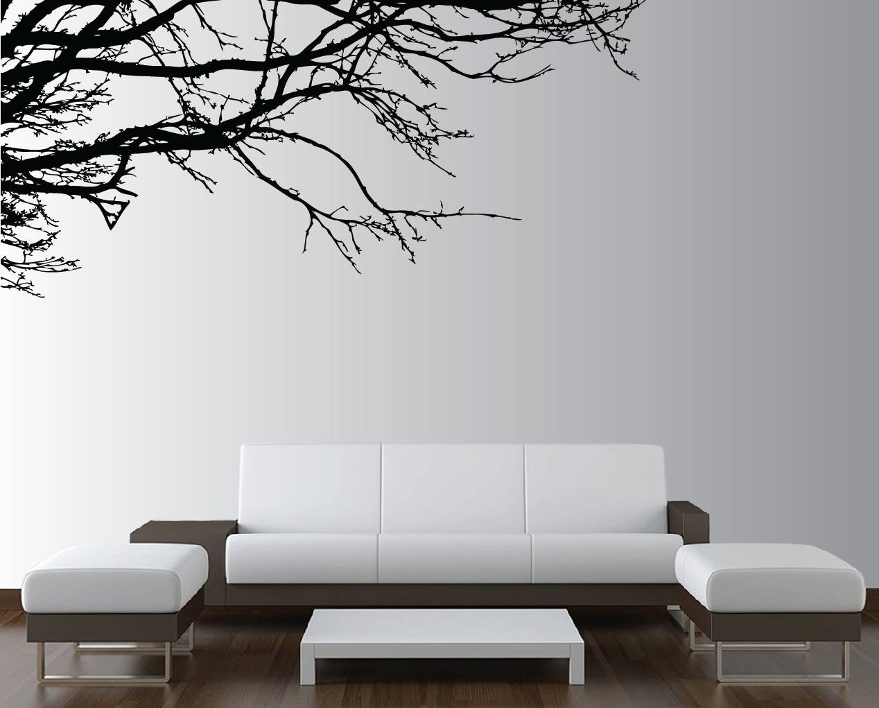 Large Wall Tree Nursery Decal Oak Branches #1130 – Innovativestencils Pertaining To Recent Oak Tree Wall Art (View 14 of 30)
