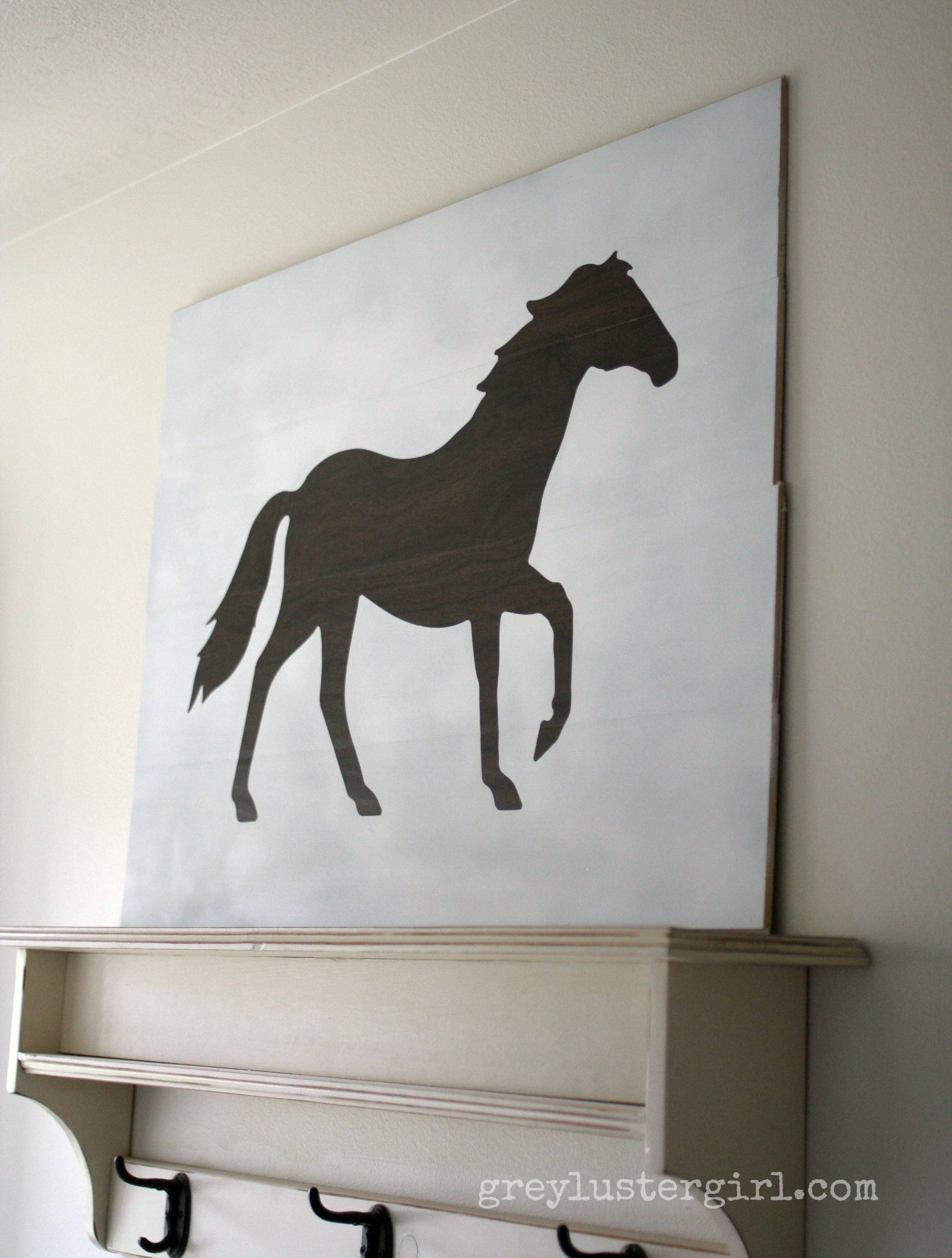 Large Wood Horse Wall Art And Silhouette Portrait Giveaway – In Most Up To Date Cameo Wall Art (View 13 of 20)