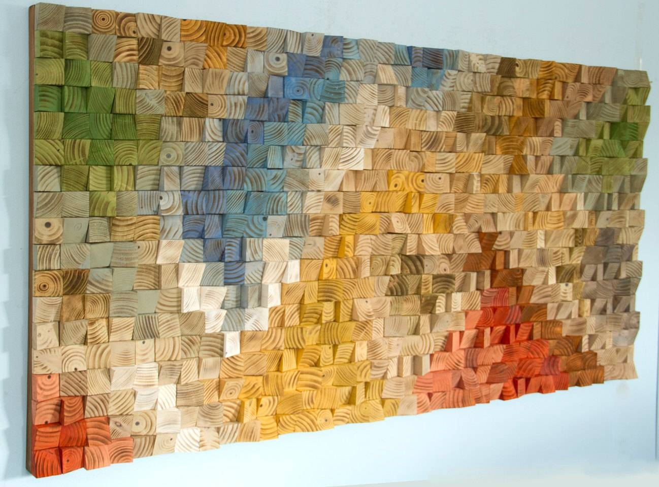 Large Wood Wall Art, Sale, 2017 Colour Trends, Geometric Art In Most Up To Date Modern Wall Art For Sale (View 8 of 20)