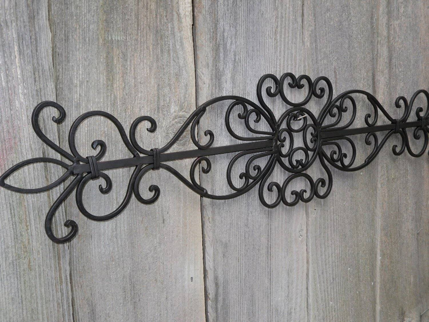 Large Wrought Iron Wall Art Outdoor : Unique Material Decorative Intended For Best And Newest Large Metal Wall Art For Outdoor (View 11 of 20)