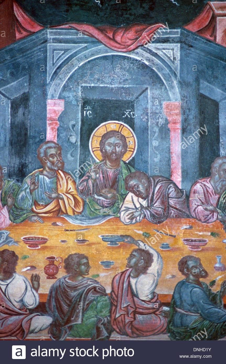 Last Supper Of Christ & The Apostles, C18Th Fresco Or Wall Intended For Most Current Last Supper Wall Art (View 10 of 20)