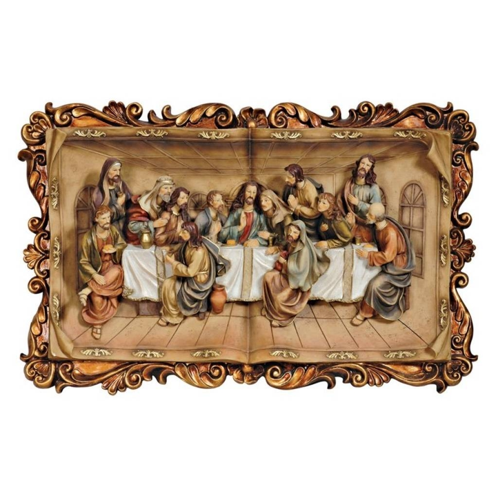 Last Supper Wall Plaque In 3D 29W X 18.5H In (View 12 of 20)