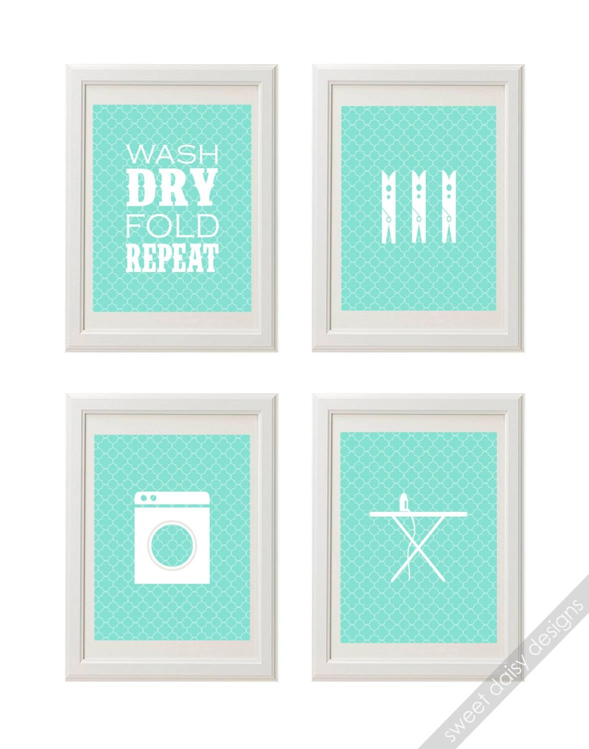 Laundry Prints Laundry Room Wall Art 4 Printable Printable Regarding Most Recently Released Laundry Room Wall Art (View 30 of 30)