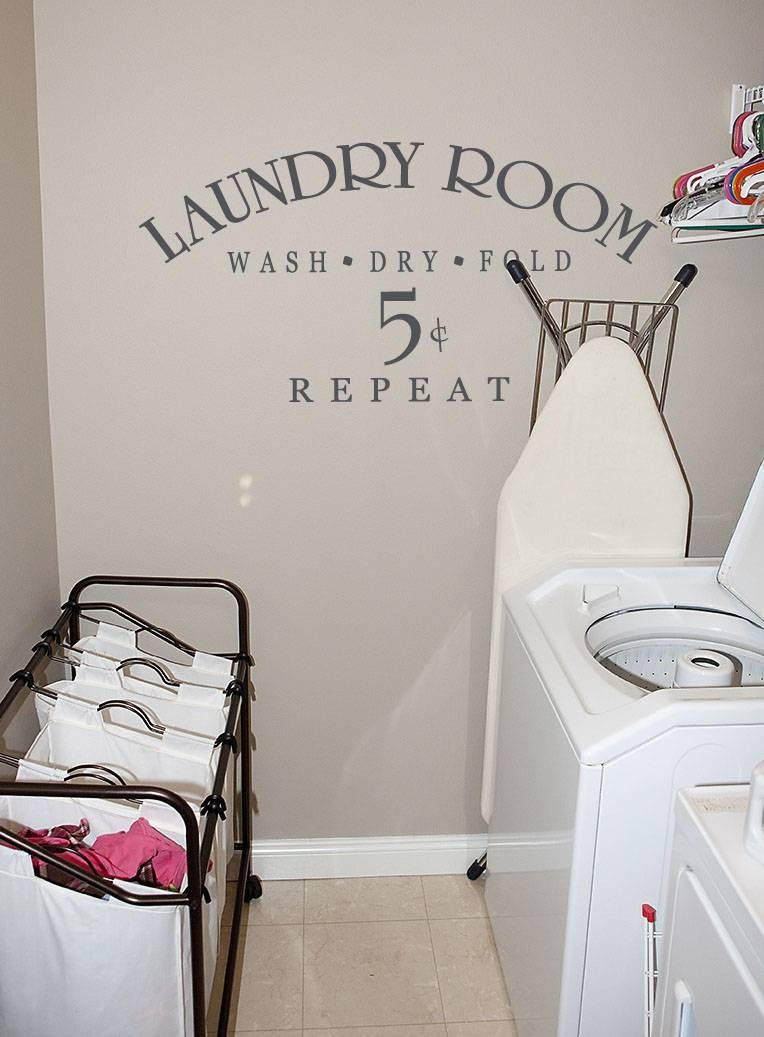 Laundry Room 5 Cents | Wall Decals – Trading Phrases With Regard To Most Up To Date Laundry Room Wall Art (View 24 of 30)