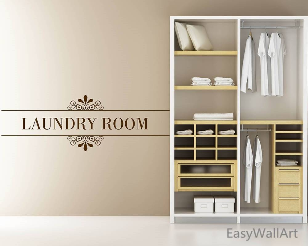 Laundry Room Decor Laundry Room Wall Decal Laundry Room Inside Best And Newest Laundry Room Wall Art (View 10 of 30)