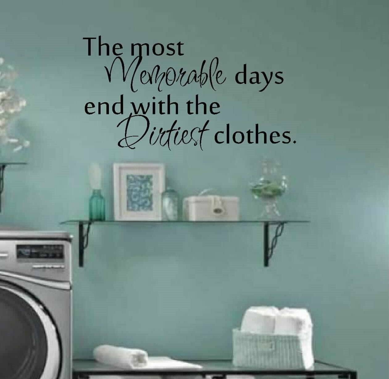 Laundry Room Decor Wall Art Matt Vinyl Decal Laundry In Most Current Laundry Room Wall Art (View 2 of 30)