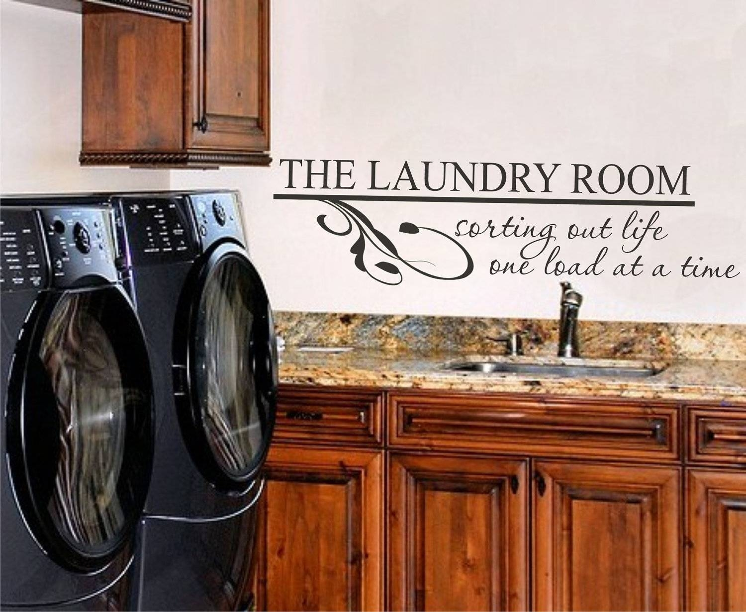 Laundry Room Vinyl Wall Art Vinyl Lettering Vinyl Decal Pertaining To Recent Laundry Room Wall Art Decors (View 18 of 25)