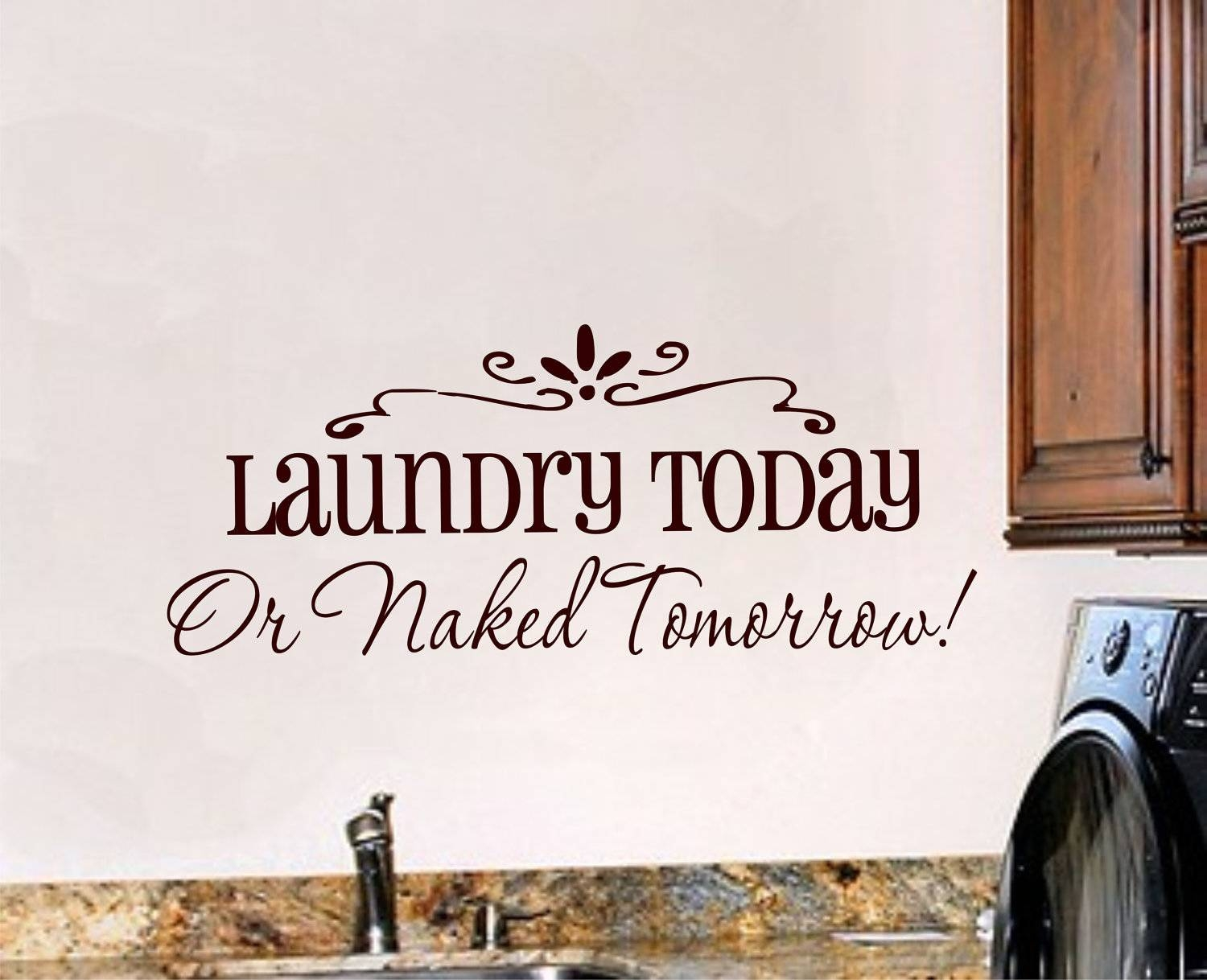 Laundry Room Wall Decal Laundry Room Decor Vinyl Wall Art Pertaining To Most Recent Laundry Room Wall Art (View 21 of 30)