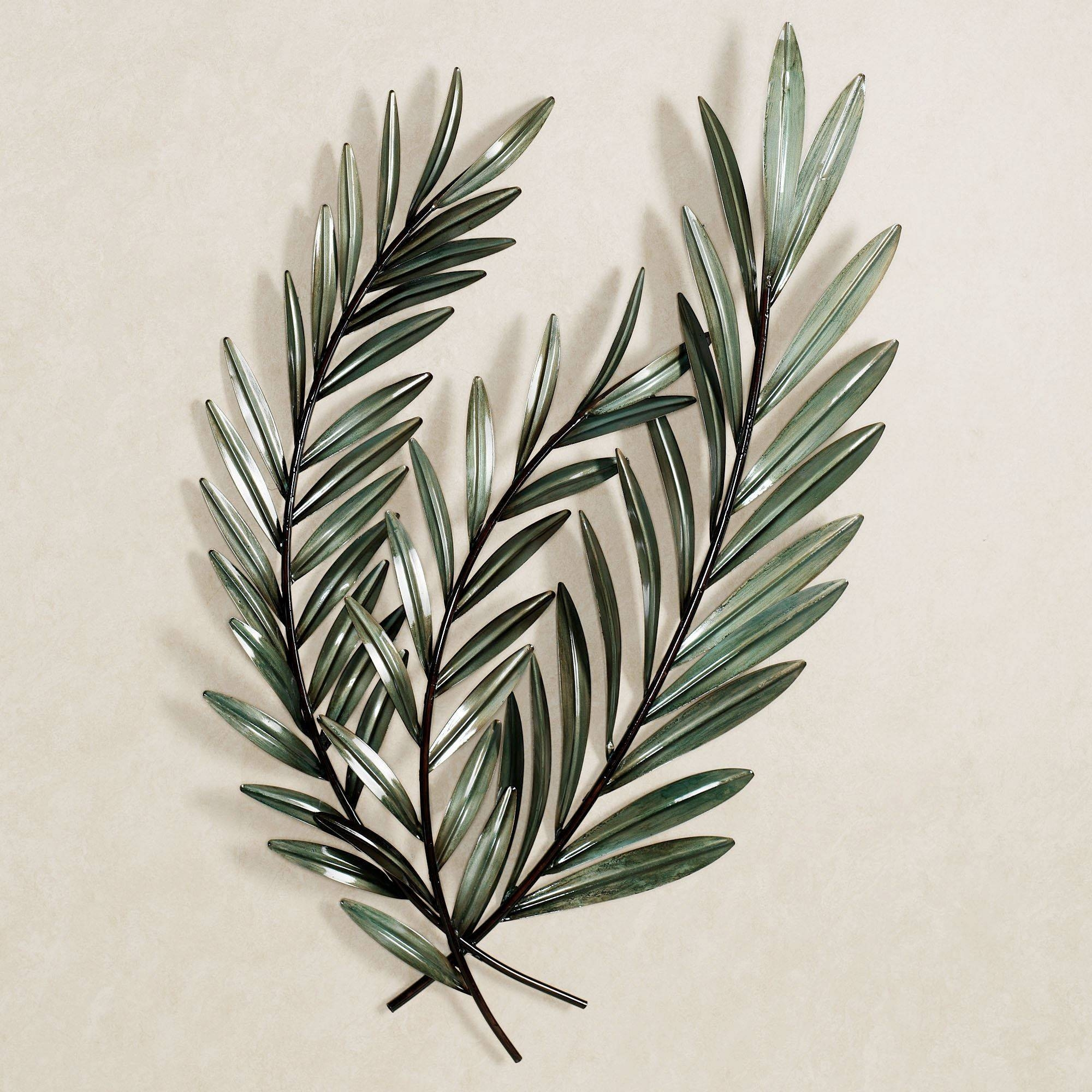 Laurella Leaf Metal Wall Art Regarding Most Recent Palm Leaf Wall Decor (View 13 of 25)