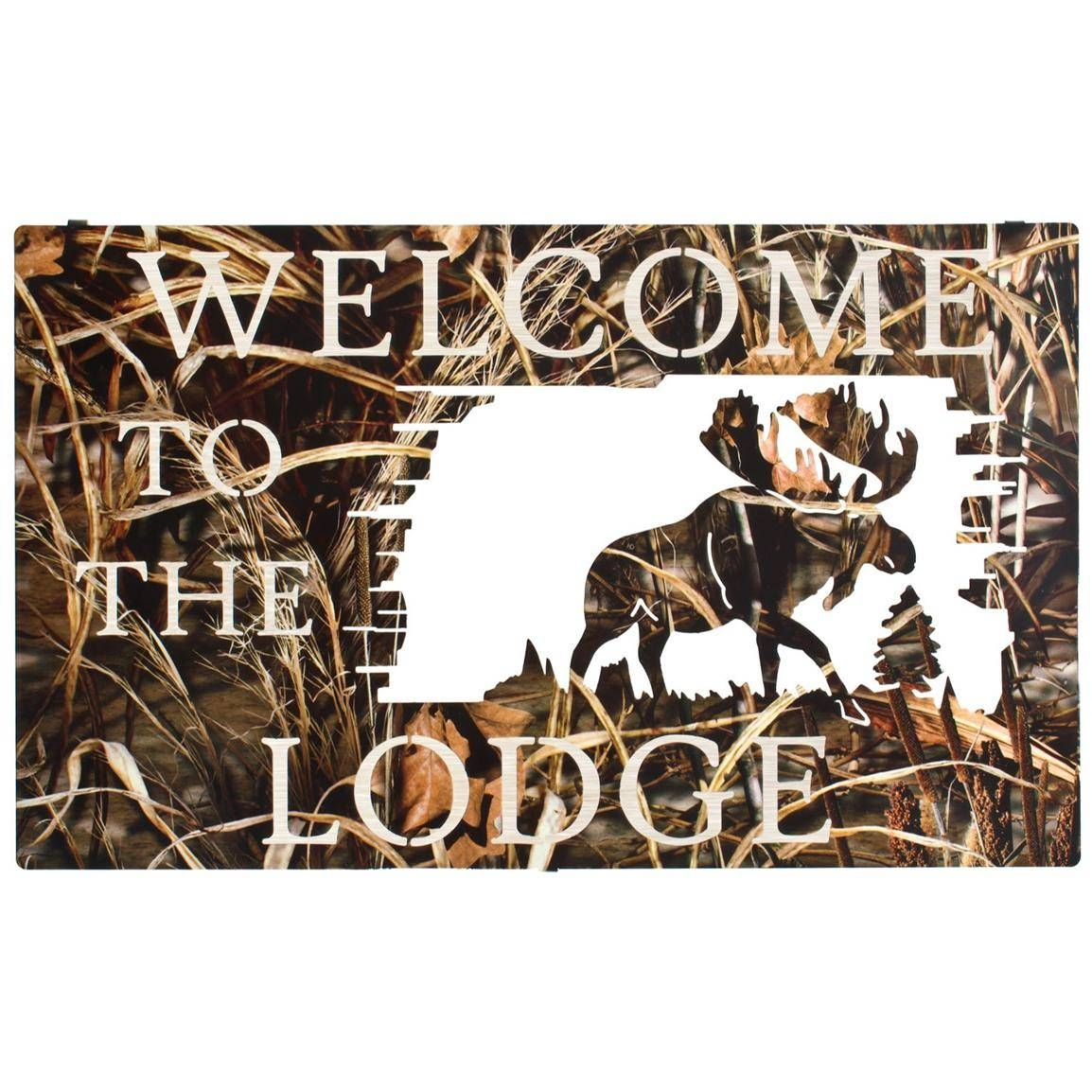 Lazart® Camo Welcome To The Lodge Wall Art – 208046, Wall Art At Pertaining To Recent Lazart Metal Wall Art (View 23 of 25)