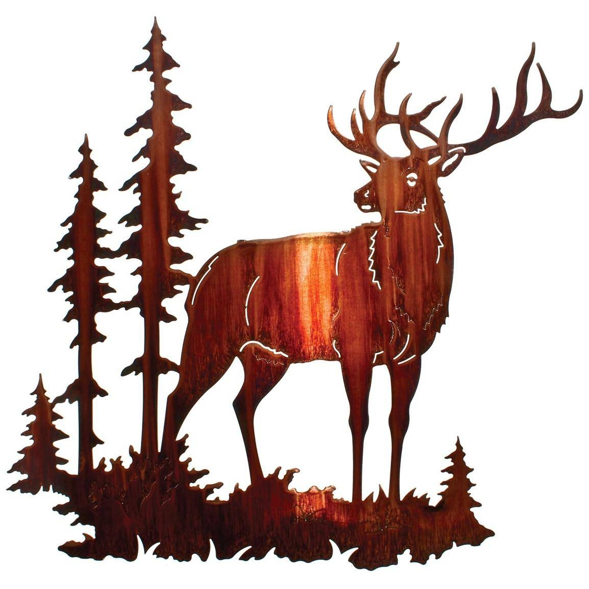 Lazart® Majestic Bull Elk Wall Art, Honey Pinion – 207999, Wall For Recent Lazart Metal Wall Art (View 18 of 25)