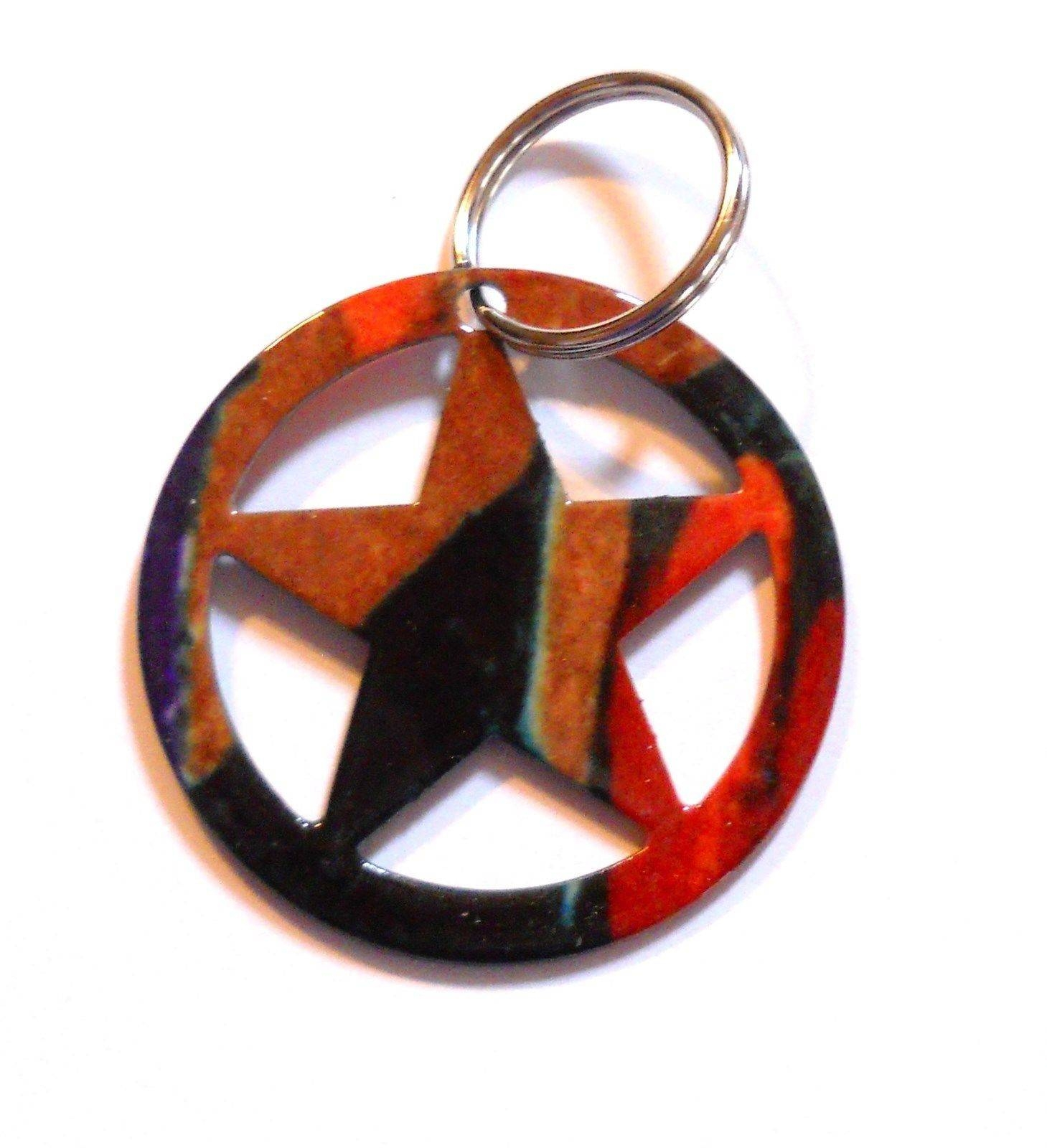 Lazart Metal Art Western Texas Star Keychain Key Ring Decoration Inside Recent Lazart Metal Art (View 21 of 30)