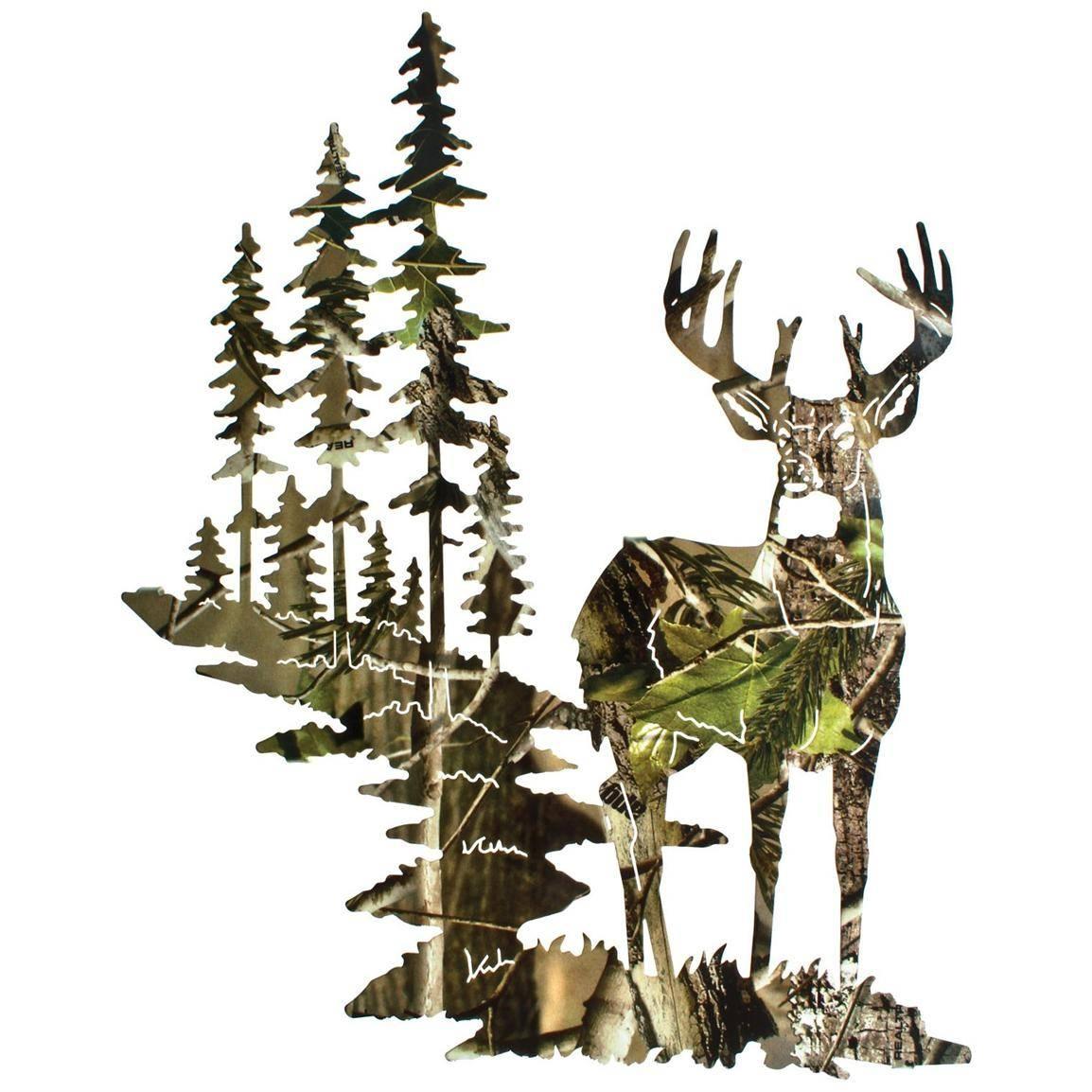 Lazart® Whitetail Deer Wall Art, Camo – 207991, Wall Art At Regarding Most Popular Lazart Metal Art (View 10 of 30)
