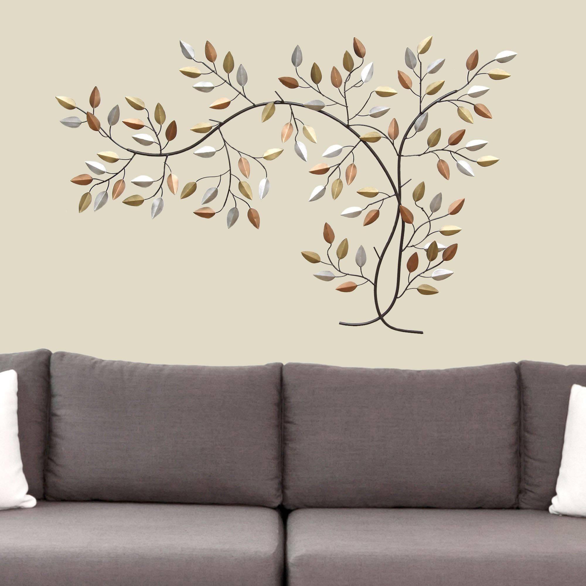 Leaf Branch Metal Wall Art In 2018 Tree Branch Wall Art (View 3 of 20)