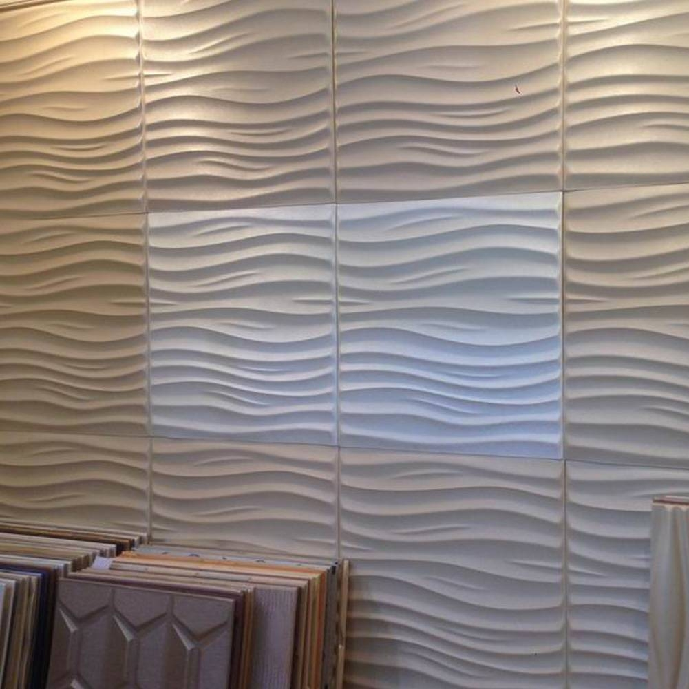 Leather 3d Textured Wall Covering Pu Material Panels Wave Wall With Recent 3d Wall Covering Panels (View 9 of 20)