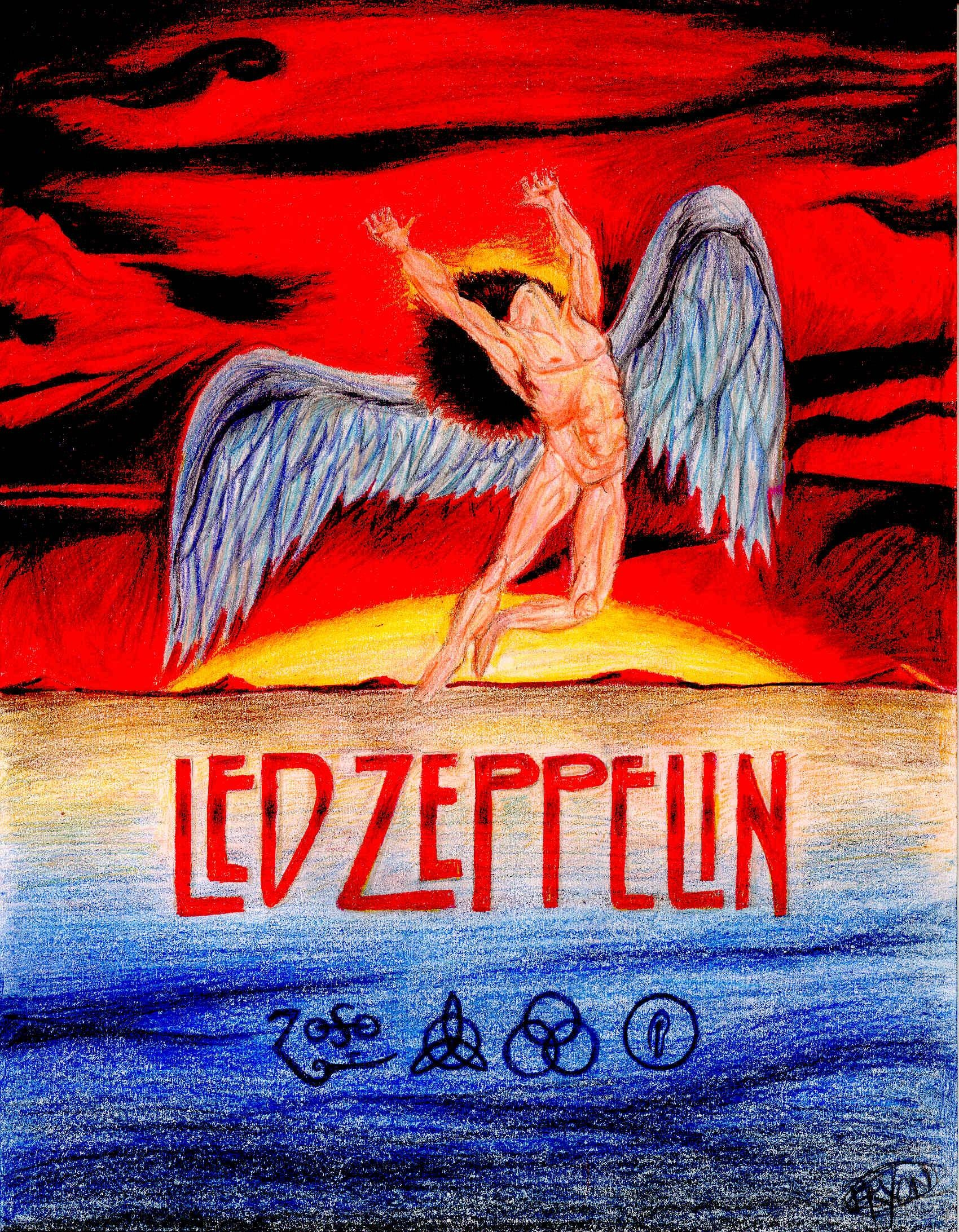 Led Zeppelin – Wings Armourdamnengine On Deviantart Within Latest Led Zeppelin 3D Wall Art (View 13 of 20)