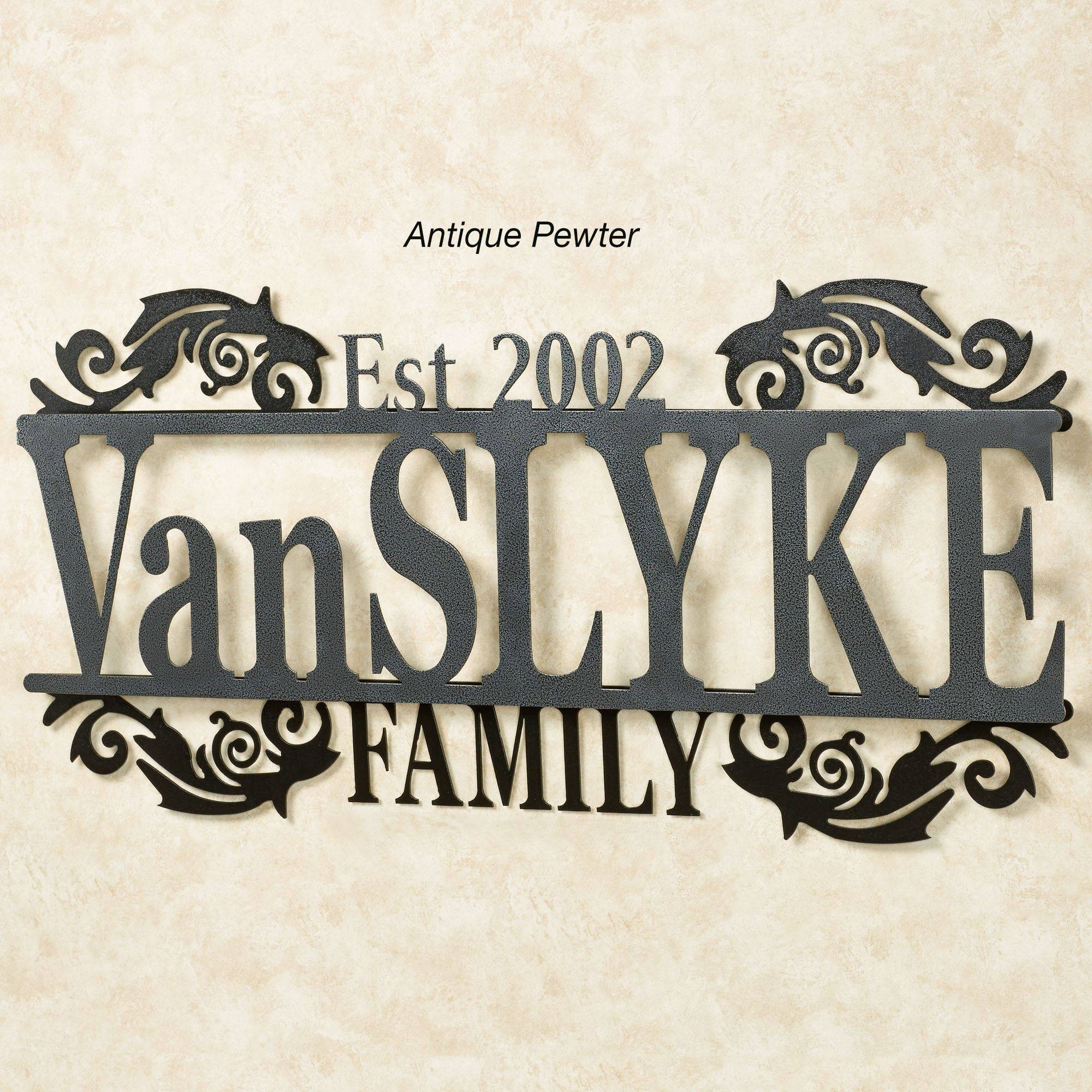 Legacy Family Established Year Personalized Metal Wall Art Sign Throughout Most Current Personalized Family Wall Art (View 8 of 20)