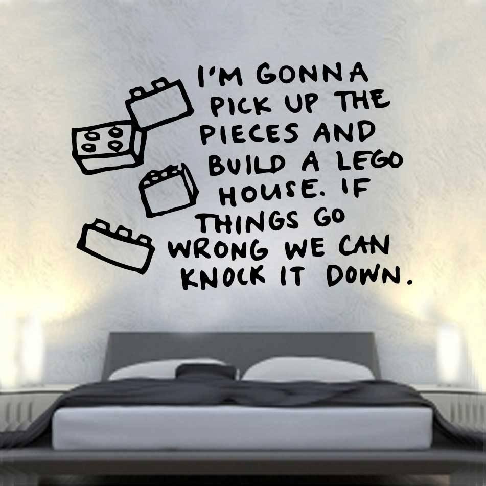 Lego House Lyrics Vinyl Wall Art | Shop Within Latest Music Lyrics Wall Art (View 2 of 20)