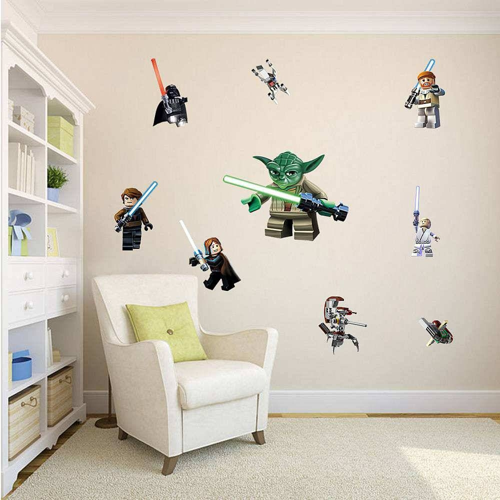 Lego Star Wars 11 Character Decal | Boys Room | Wall Stickers With Most Recently Released Lego Star Wars Wall Art (View 19 of 20)