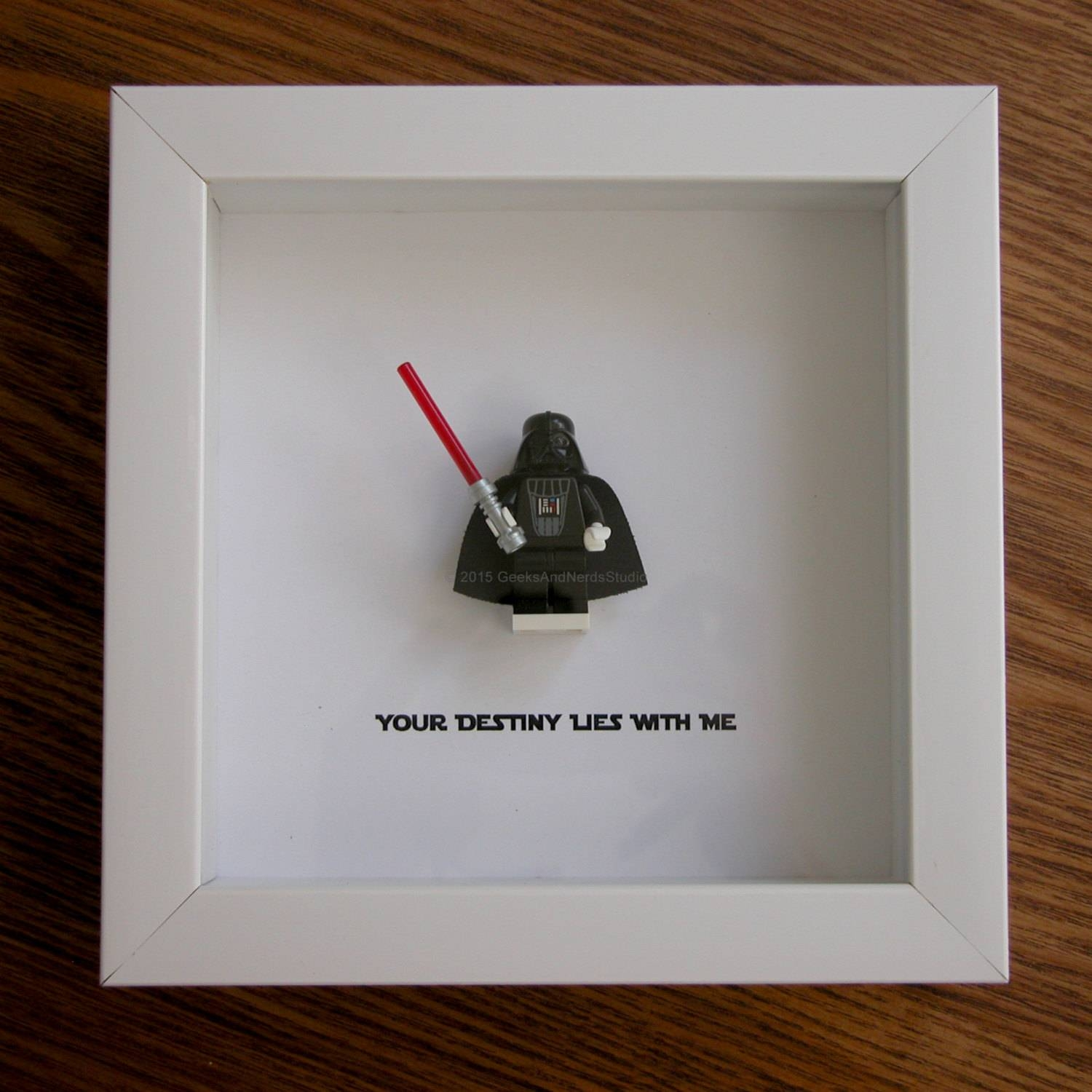 Lego Star Wars Art Frame Darth Vader Lego Christmas Lego Throughout Most Current Lego Star Wars Wall Art (View 6 of 20)
