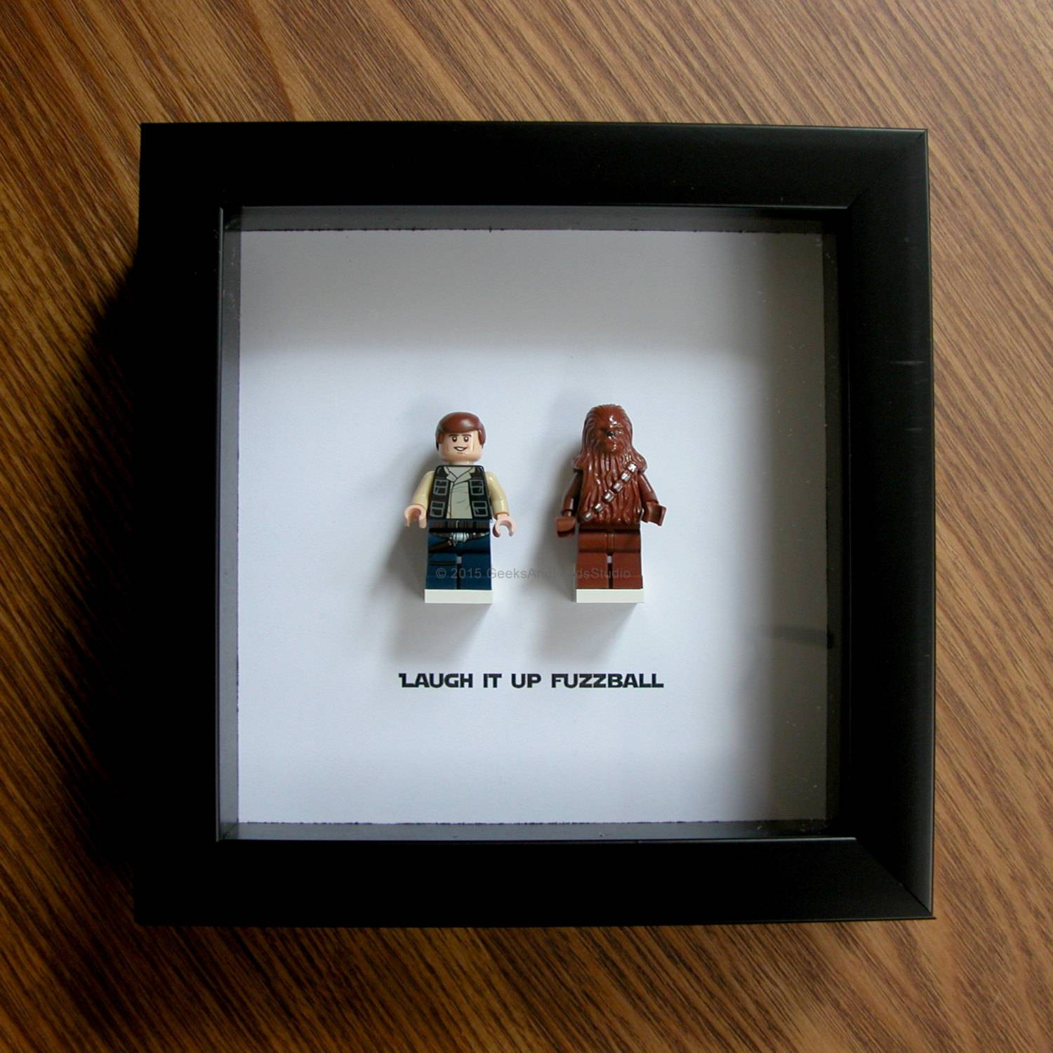 Lego Star Wars Art Frame Han Solo & Chewbacca Lego Within Newest Lego Star Wars Wall Art (View 14 of 20)