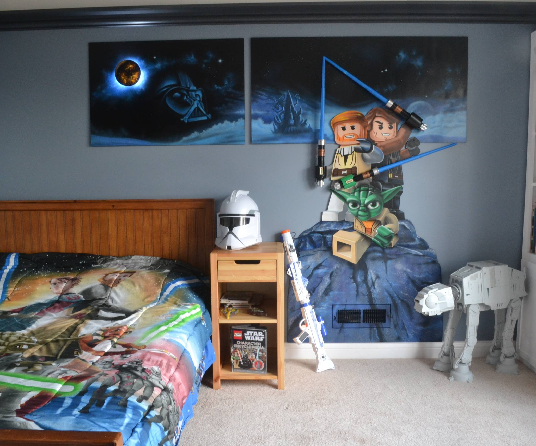 Lego Star Wars Mural Throughout Most Recent Lego Star Wars Wall Art (View 2 of 20)