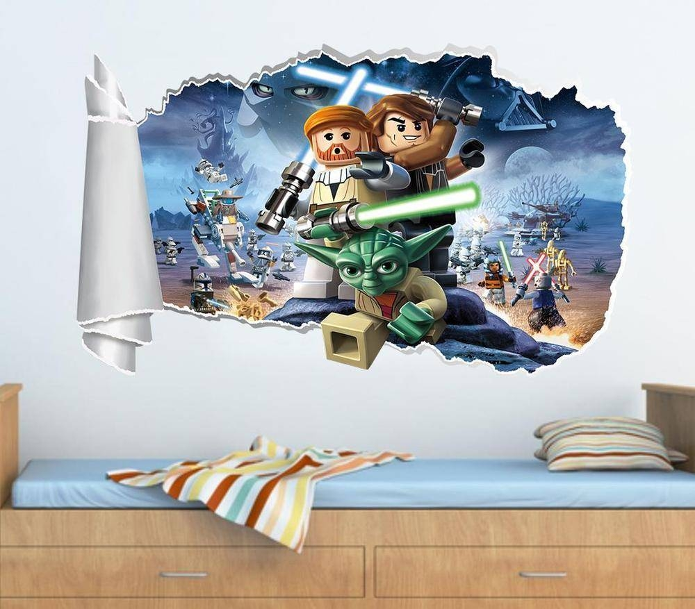 Lego Star Wars Wall Decals | Ebay Intended For Latest Lego Star Wars Wall Art (View 16 of 20)