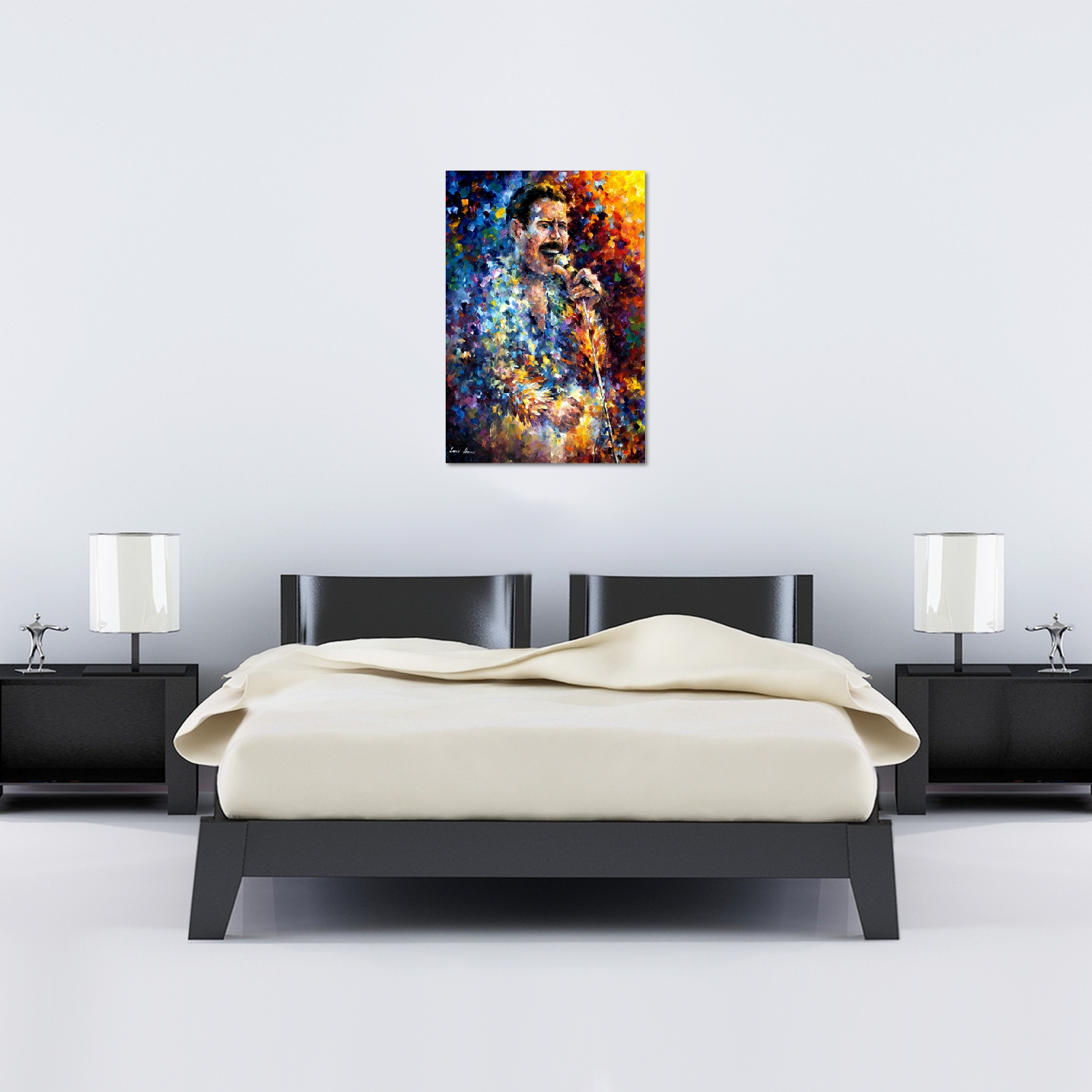 Leonid Afremov Freddie Mercury Canvas – World Art Regarding 2017 Freddie Mercury Wall Art (View 14 of 15)