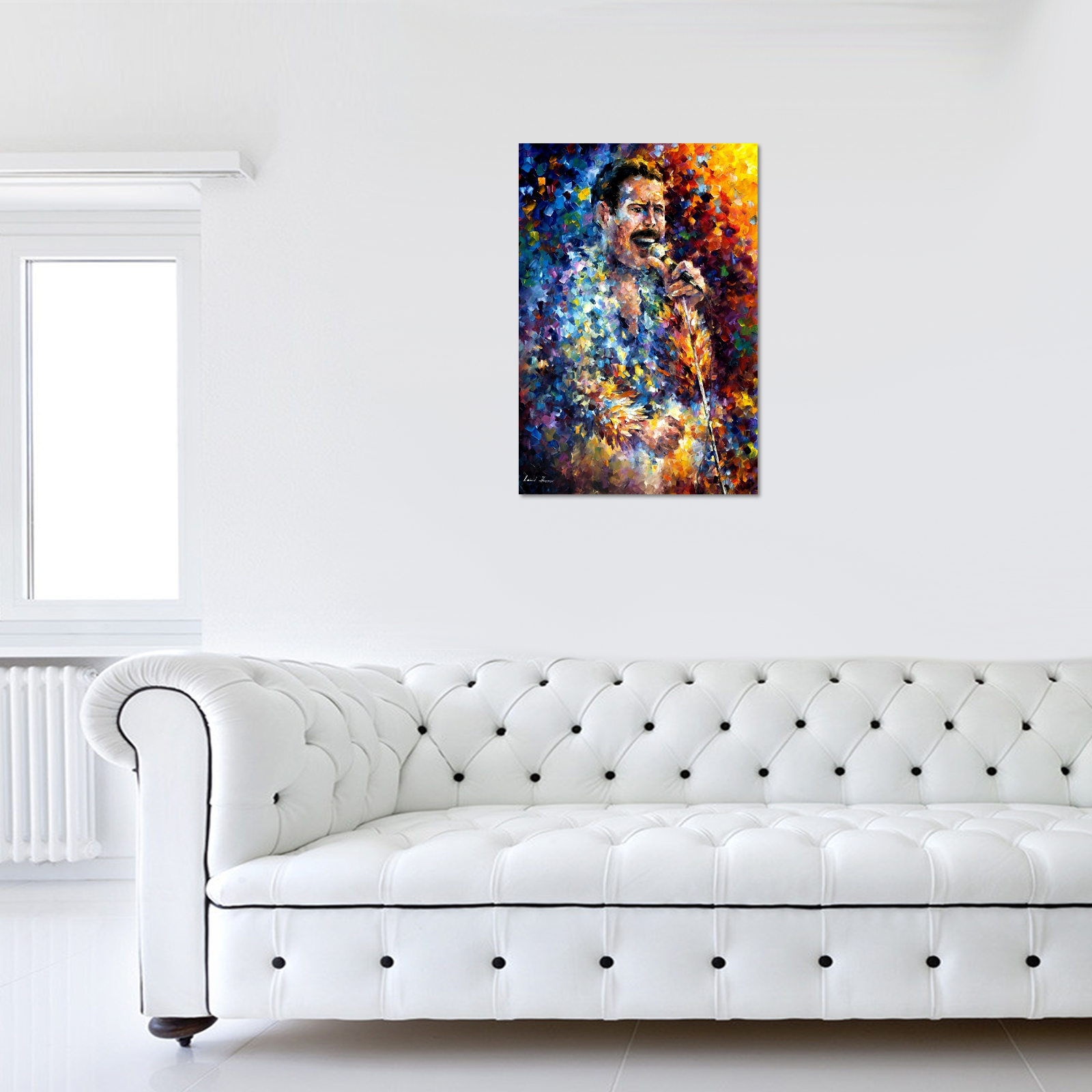 Leonid Afremov Freddie Mercury Canvas – World Art Within Newest Freddie Mercury Wall Art (View 13 of 15)