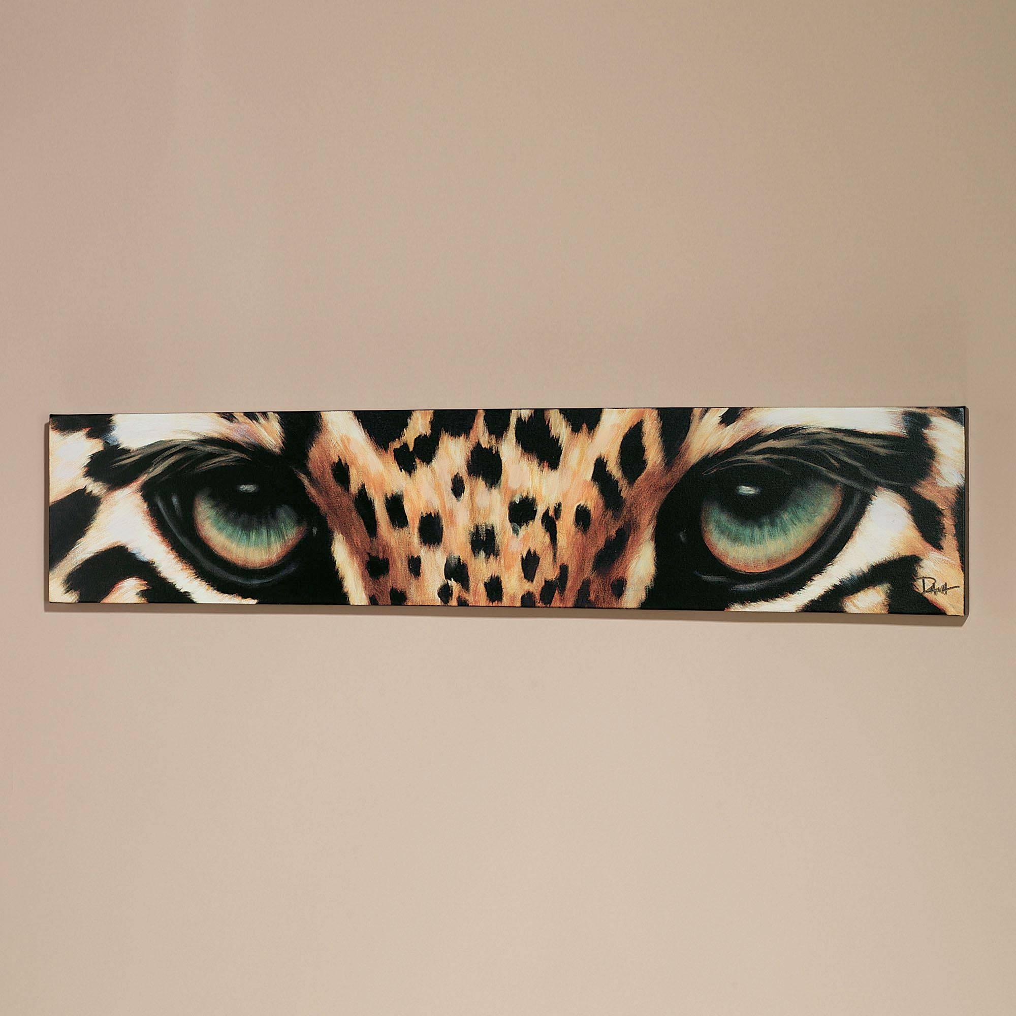 Leopard Eyes Canvas Art For Most Current Leopard Print Wall Art (View 4 of 25)