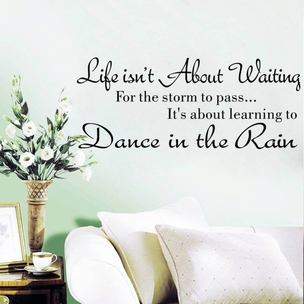 Life Is Not About Waiting Inspirational Quotes Removable Cute Art Regarding Most Up To Date Life Is Good Wall Art (View 29 of 30)