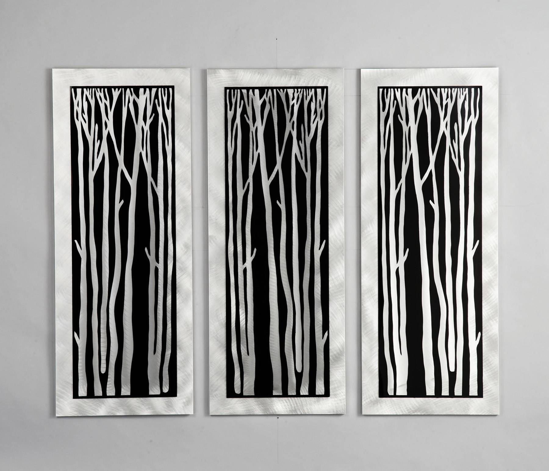 Lighting Wg40502 Silver Birch 3 Piece Wall Graphic Pertaining To Most Recently Released 3 Piece Wall Art (View 18 of 30)