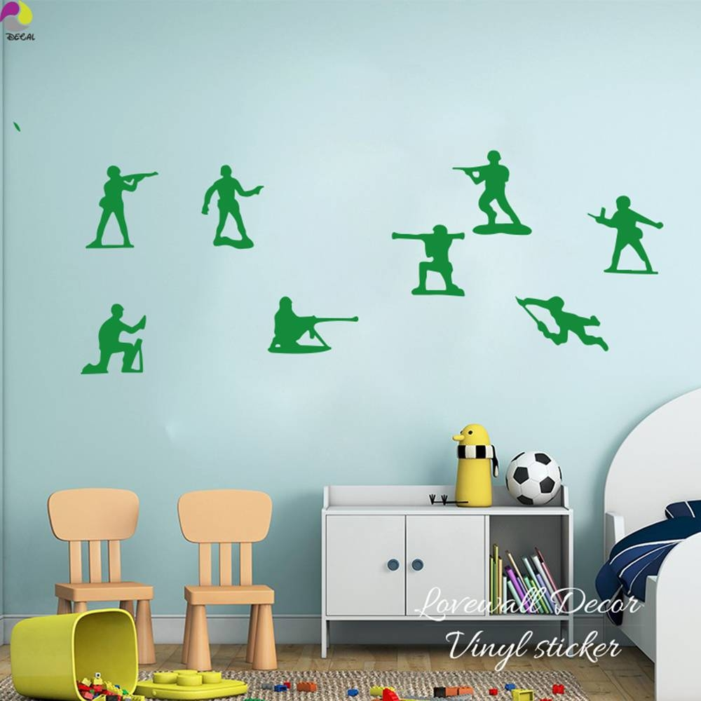 Little Army Men Toy Soldiers Toy Story Boys Wall Sticker Boys Room Pertaining To Most Current Toy Story Wall Stickers (View 12 of 25)