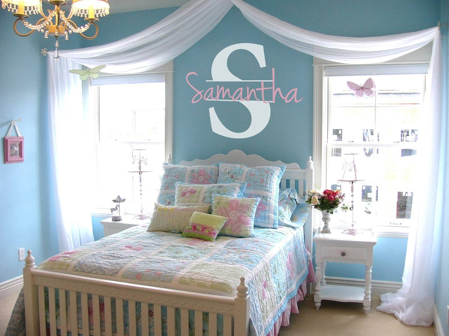 Little Girl Room Decorating Ideas Personalized Name Initial Vinyl For Current Little Girl Wall Art (View 15 of 20)