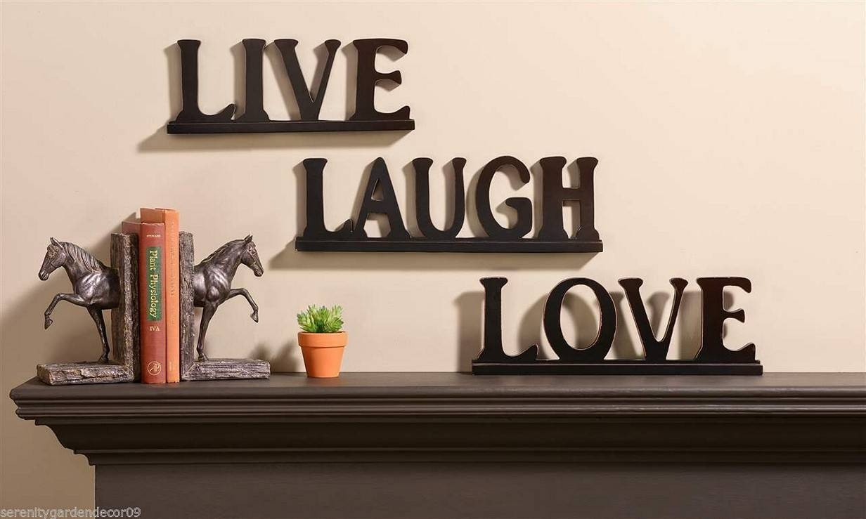 2018 popular live love laugh metal wall decor for Decor live beautiful app