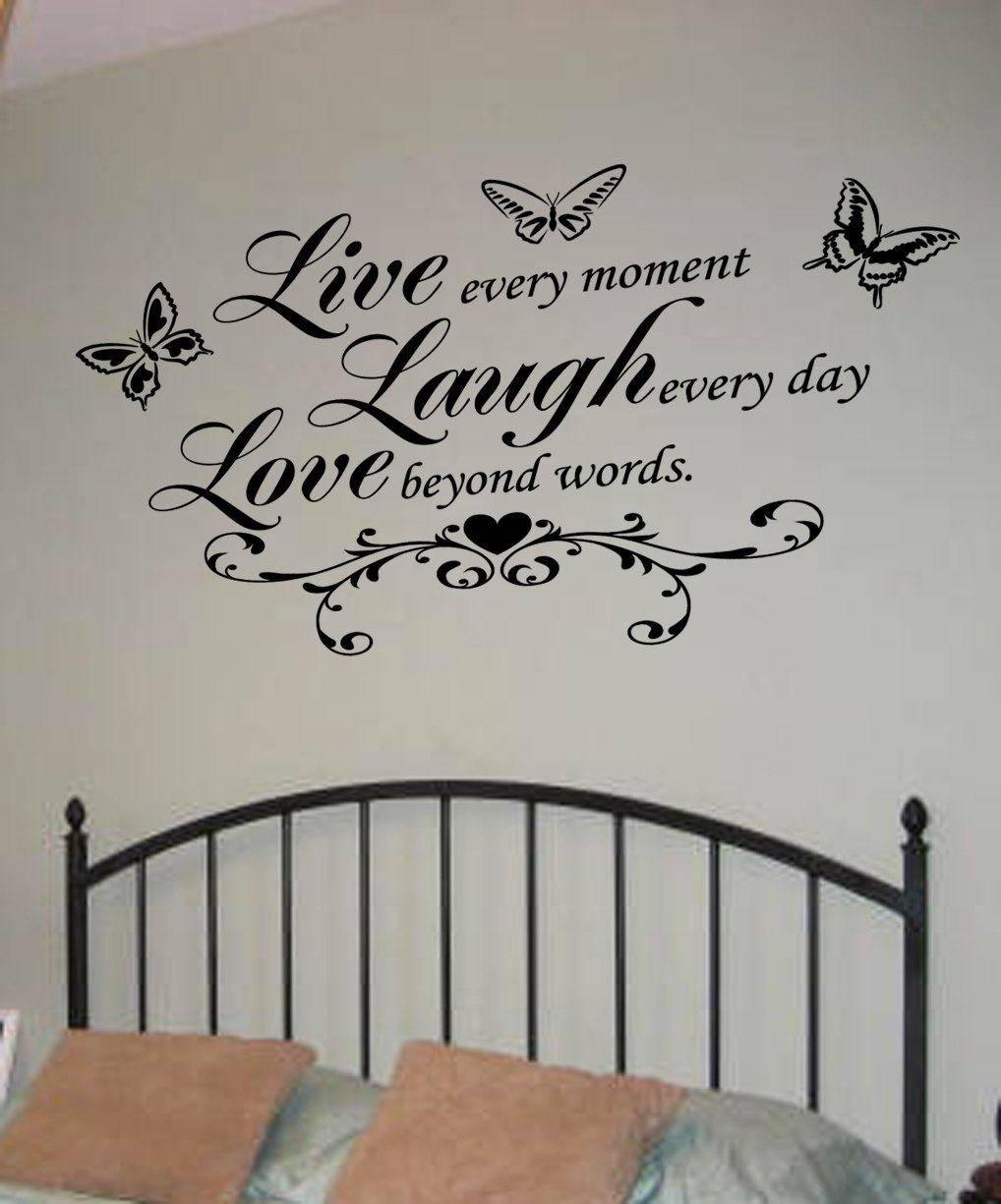 Live Laugh Love Wall Art Decal | Wall Decal | Wall Art Decal Throughout 2017 Love Wall Art (View 9 of 20)