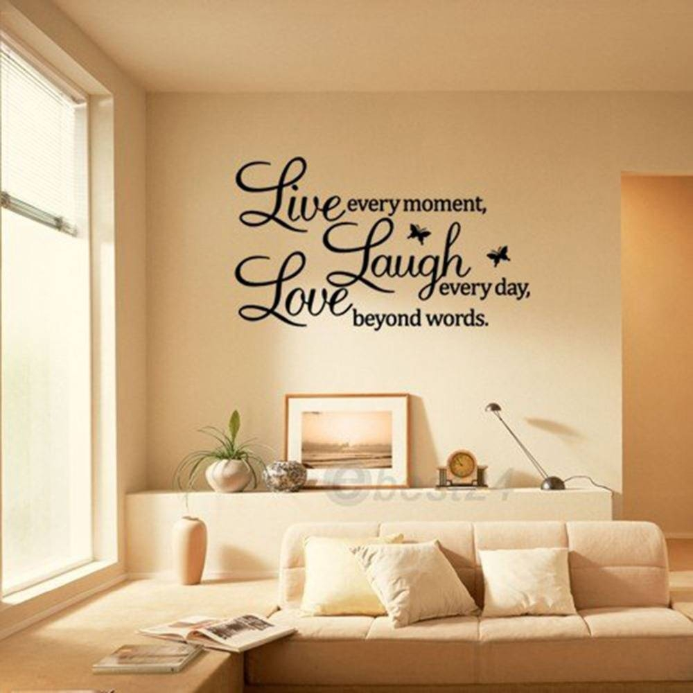 Popular live love laugh metal wall decor