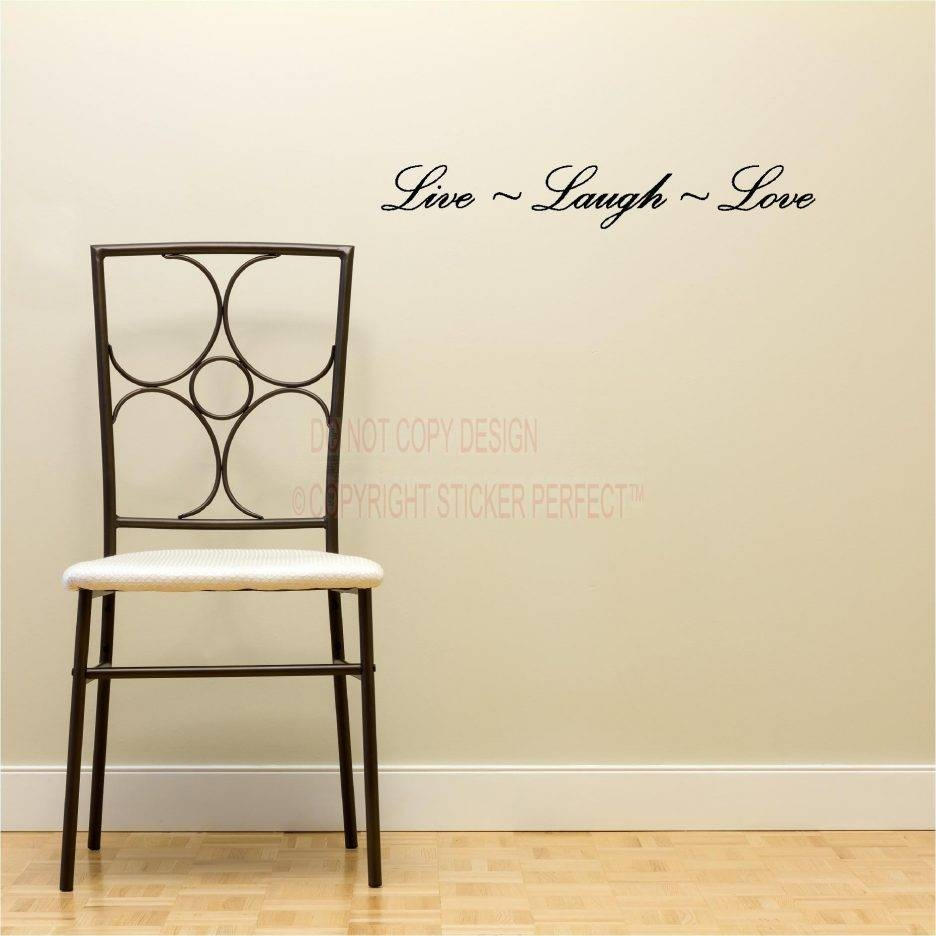 Live Laugh Love Wooden Signs Removable Wall Stickers Living Room Regarding Latest Live Laugh Love Wall Art Metal (View 17 of 25)