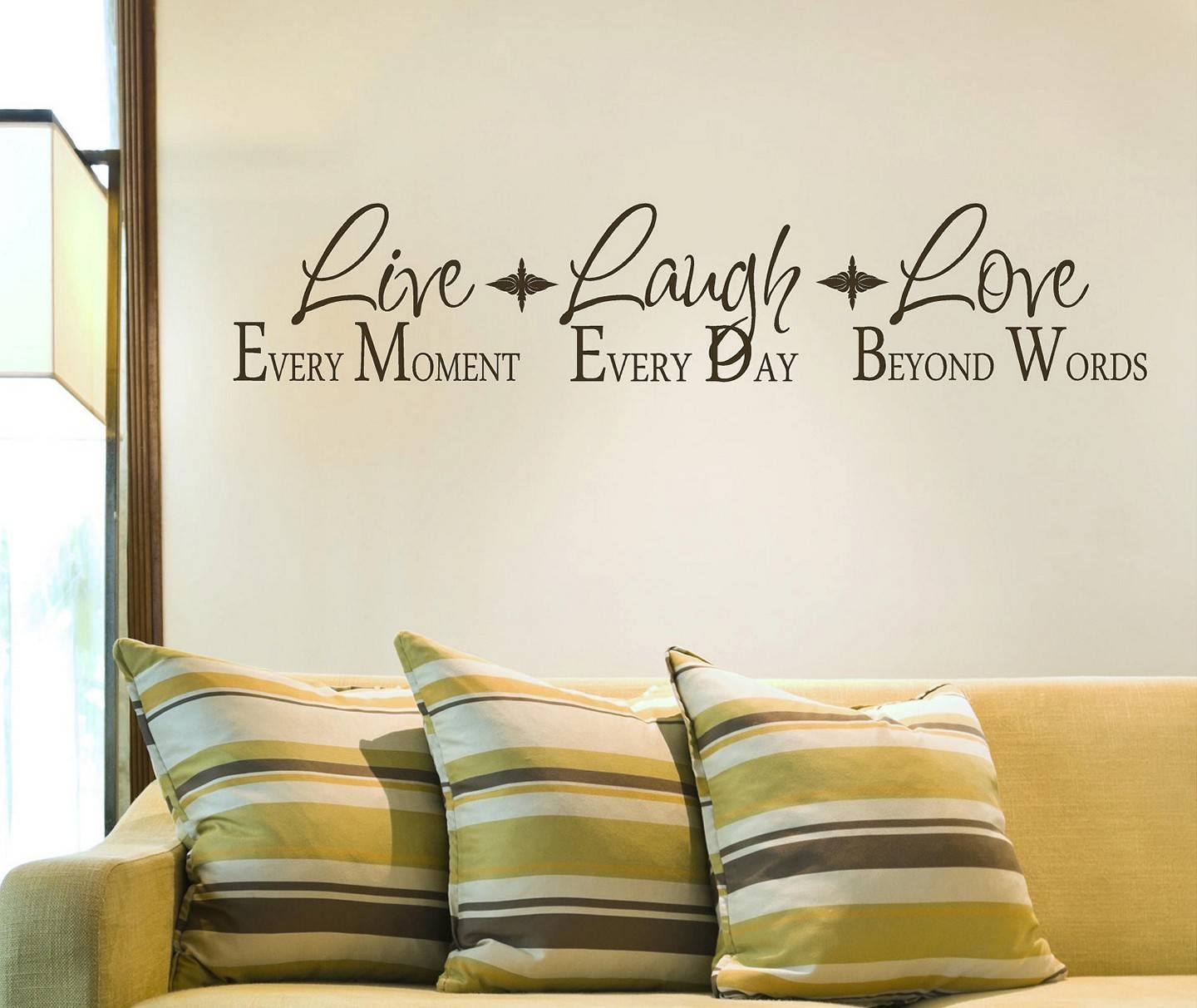 Live Laugh Love Wooden Signs Removable Wall Stickers Living Room Regarding Newest Live Laugh Love Wall Art Metal (View 8 of 25)