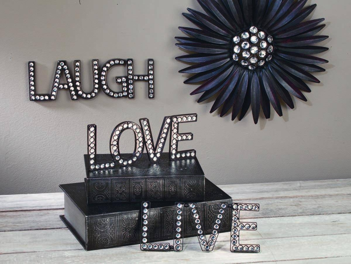 25 best collection of live love laugh metal wall art for Art decoration international
