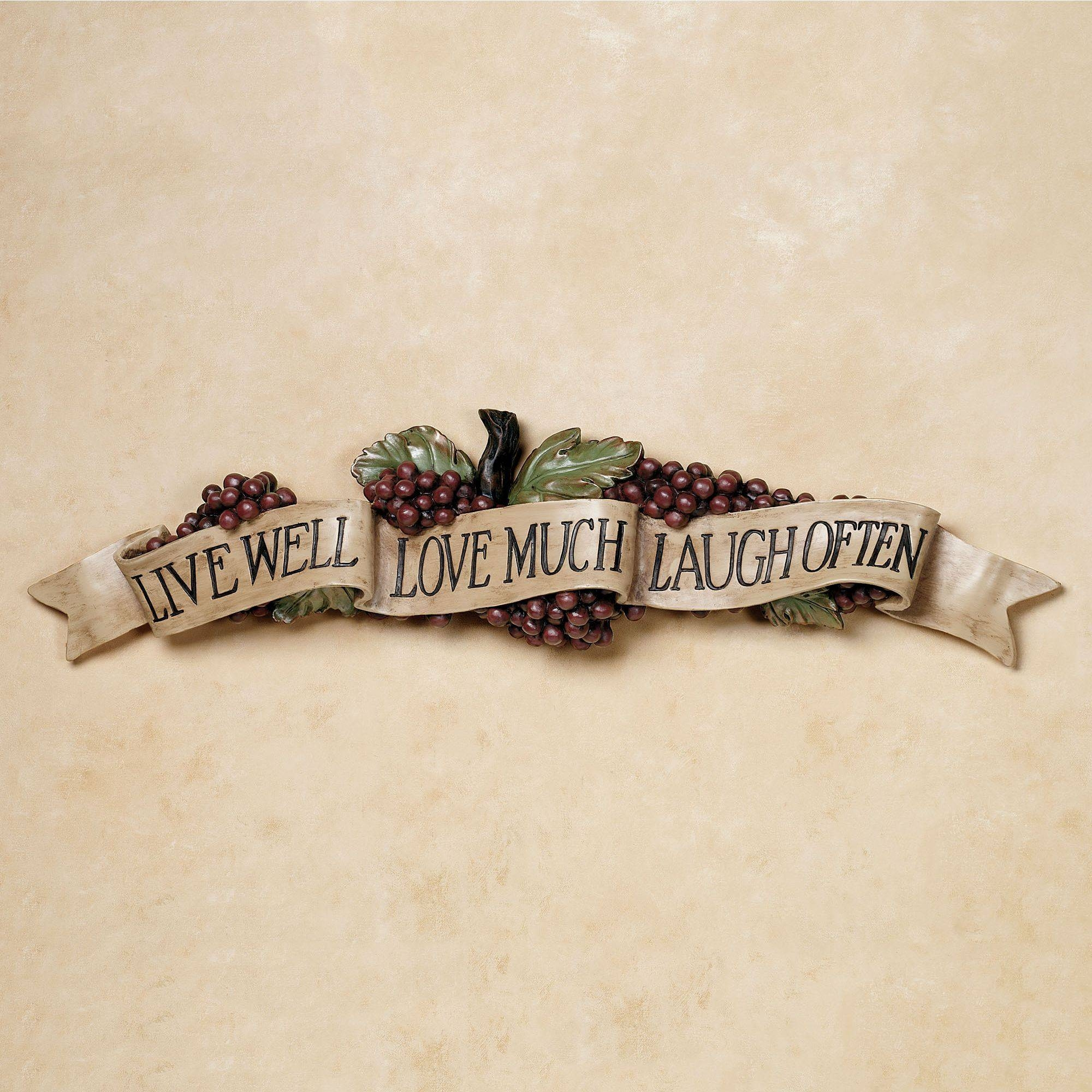 Live Love Laugh Grapes Wall Accent Within Best And Newest Grape Wall Art (View 16 of 22)