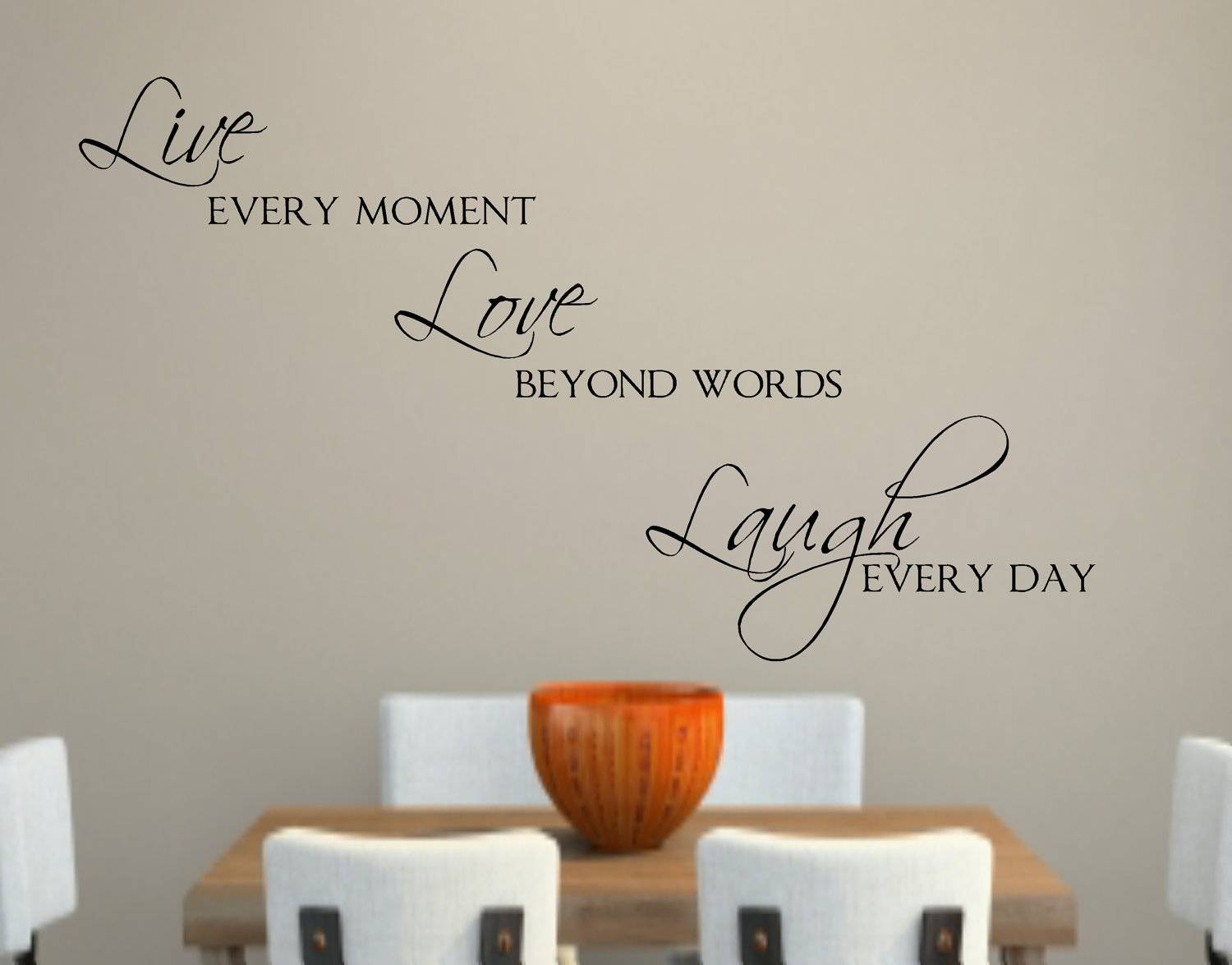 Live Love Laugh Vinyl Wall Decal Decor Lettering Words For The Intended For Best And Newest Love Wall Art (View 12 of 20)