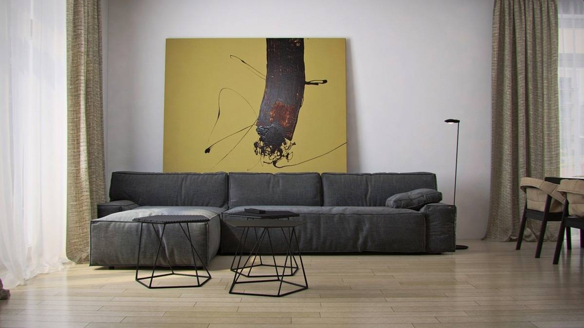 Living Room : Bold Paint Wall Art Ideas Gray Cotton Modern Sofa Inside Most Recent Sofa Size Wall Art (View 9 of 20)