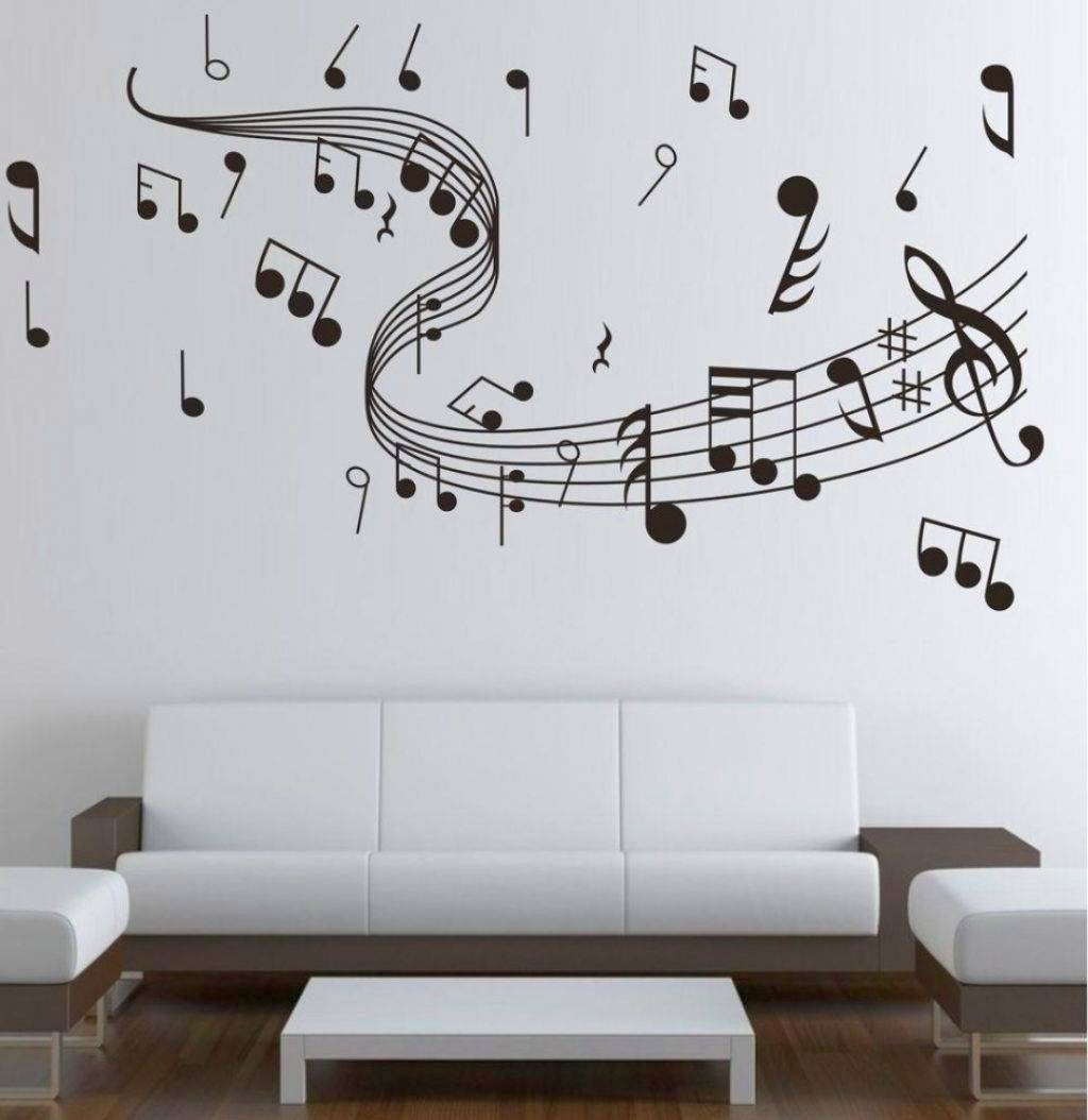 Living Room : Decorations Dazzling Interior Design Living Room Intended For 2018 Music Note Wall Art Decor (View 12 of 20)