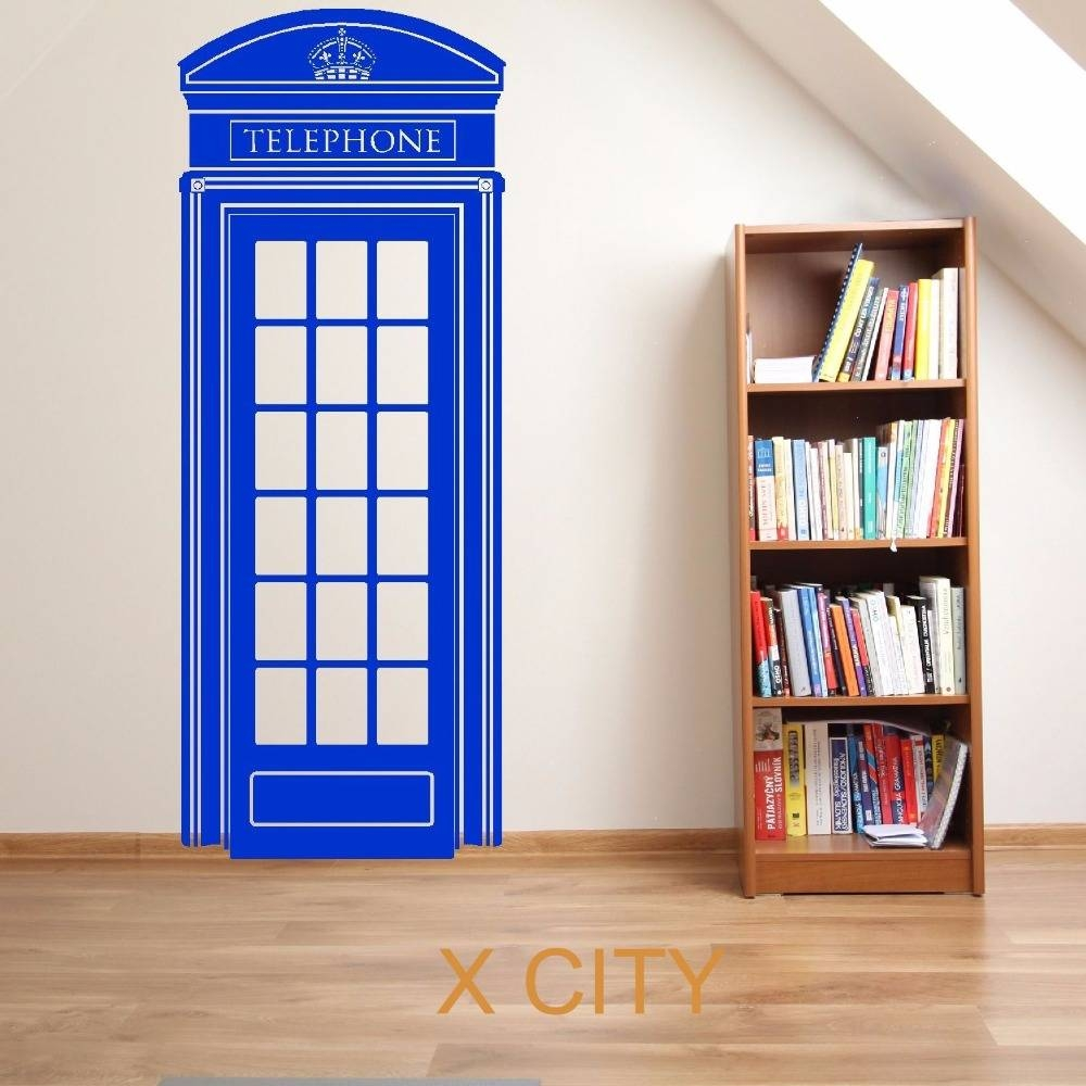 London Telephone Box Uk Scenery Doctor Who Vehicle Vinyl Wall Art Inside Latest Doctor Who Wall Art (View 30 of 33)