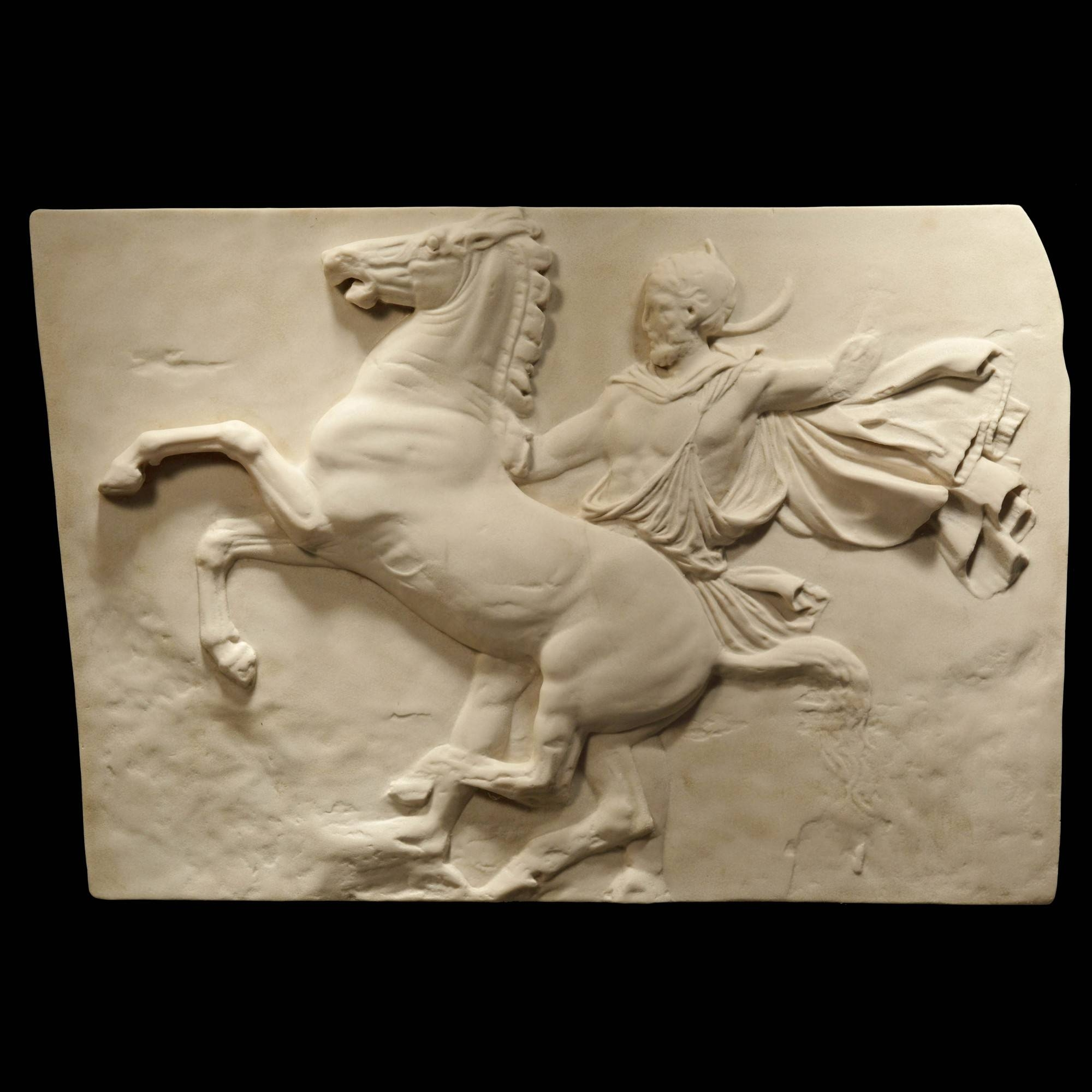 Lone Horseman Parthenon Marbles – Ancient Greek Wall Relief Plaque Within Most Up To Date Greek Wall Art (View 13 of 20)