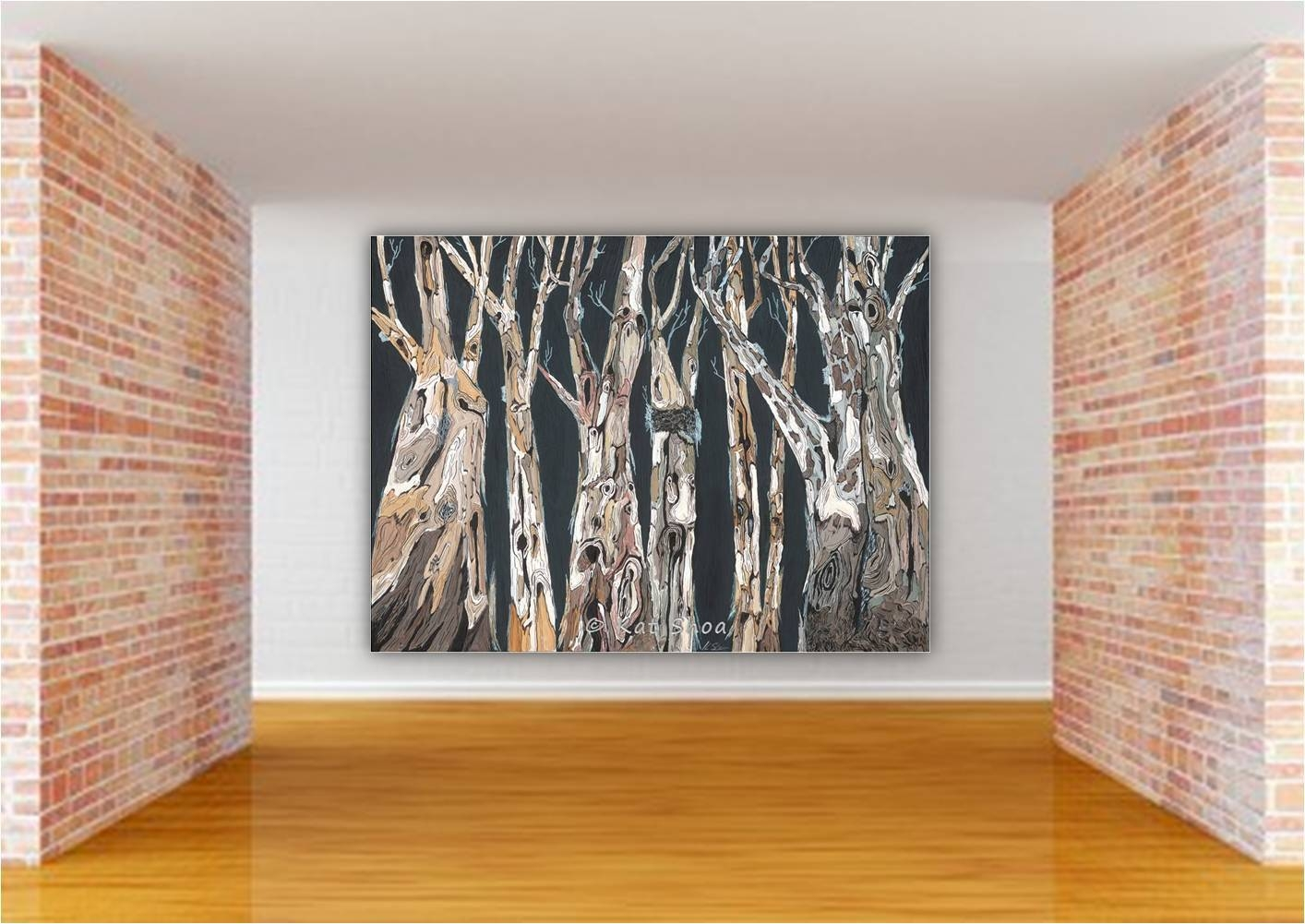 Long Wall Art Extra Large Canvas Print Gicleetree White In 2017 Huge Wall Art (View 2 of 20)